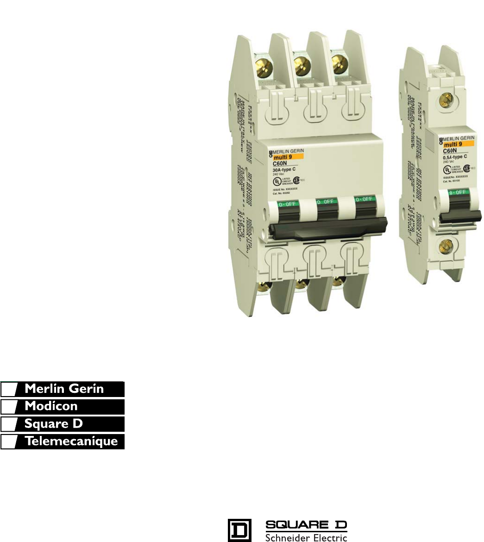 Square D Merlin Gerin C60N MG24455 2P 40A 277//480V Circuit Breaker NEW