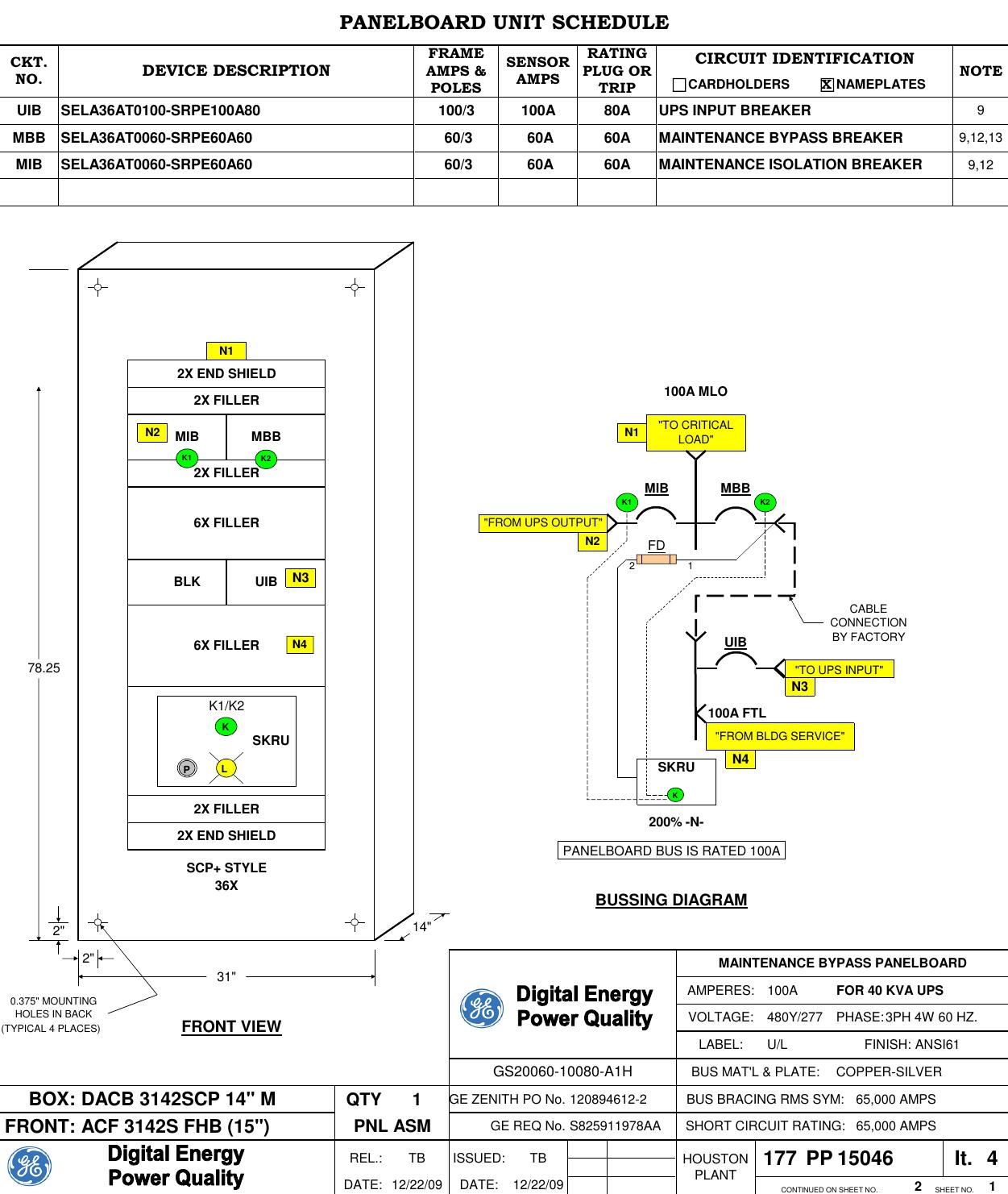40kva 3 Brk Mbp W Skru Gs20060 10080 A1h 15046 Gez Mlo Wiring Diagram