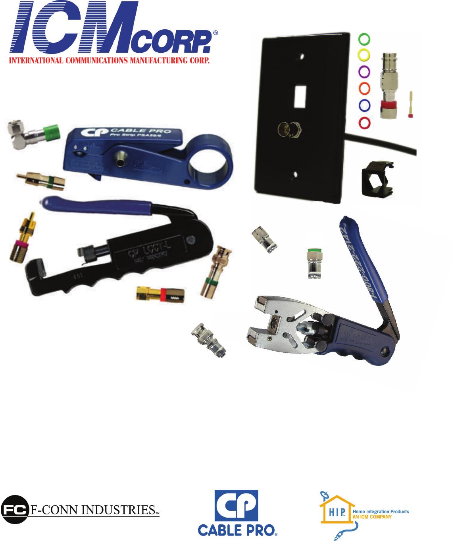 BNC Connectors for mini RGB cable F-conn FSBNC15RGB 25 per bag