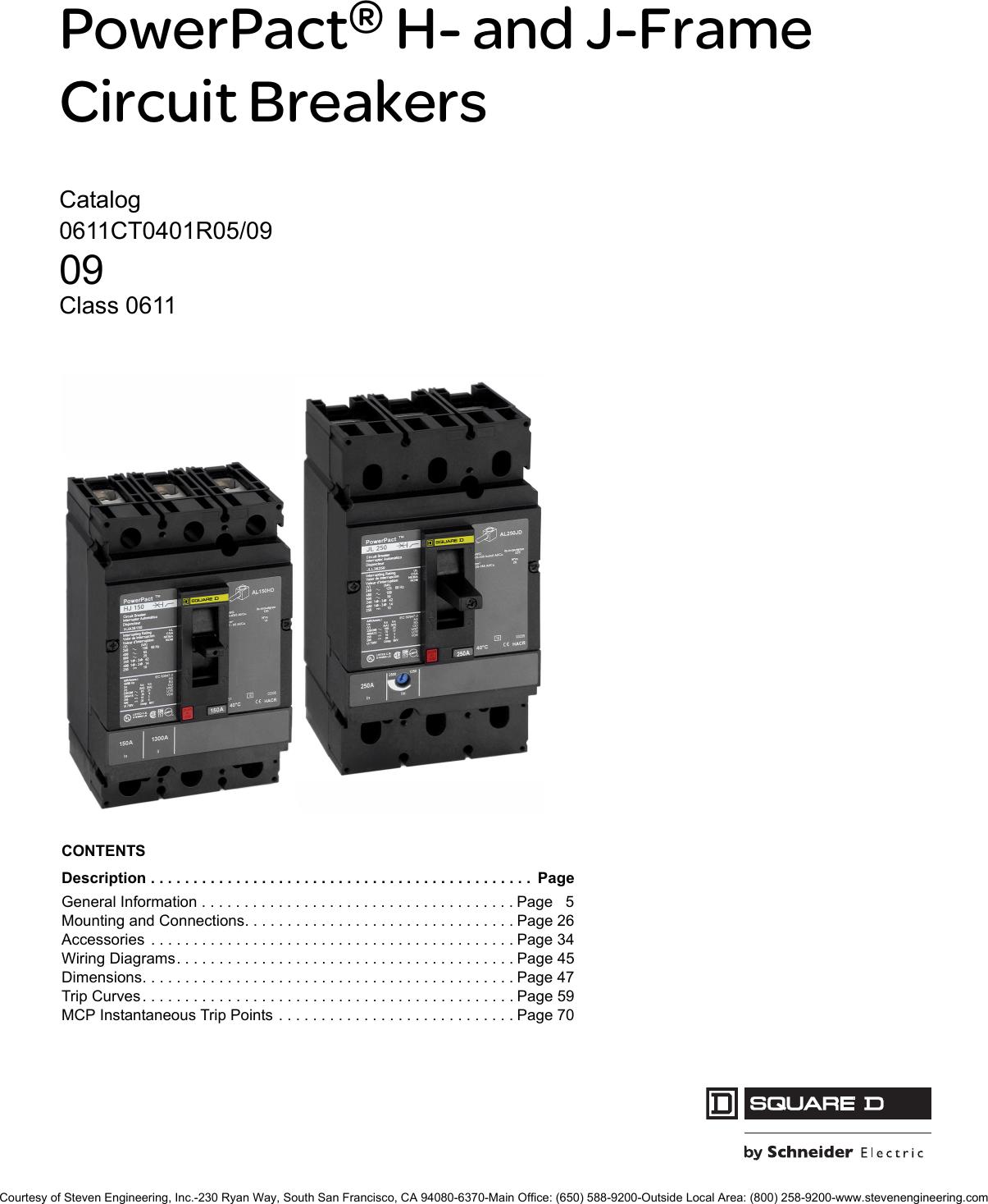 Schneider Electric Powerpact H And J Frame Circuit Breakers Motor Breakermotor Breaker Product On