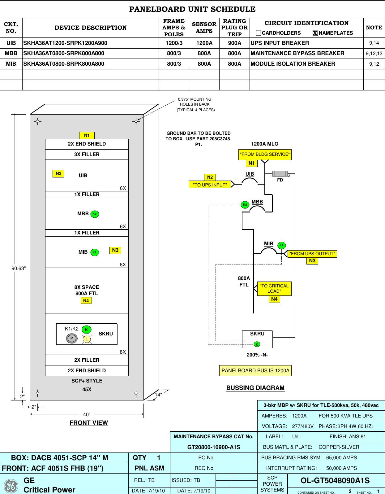 Ol 3 Bkr Mbp W Skru For Tle 500kva 50k 480vac Mlo Wiring Diagram