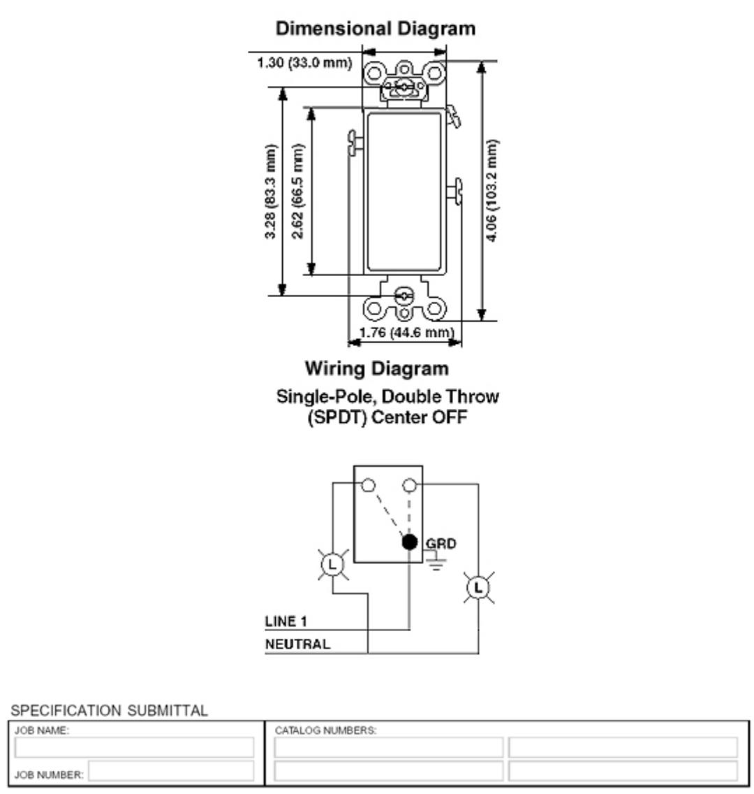 Leviton Decora Single Pole Switch Wiring Diagram