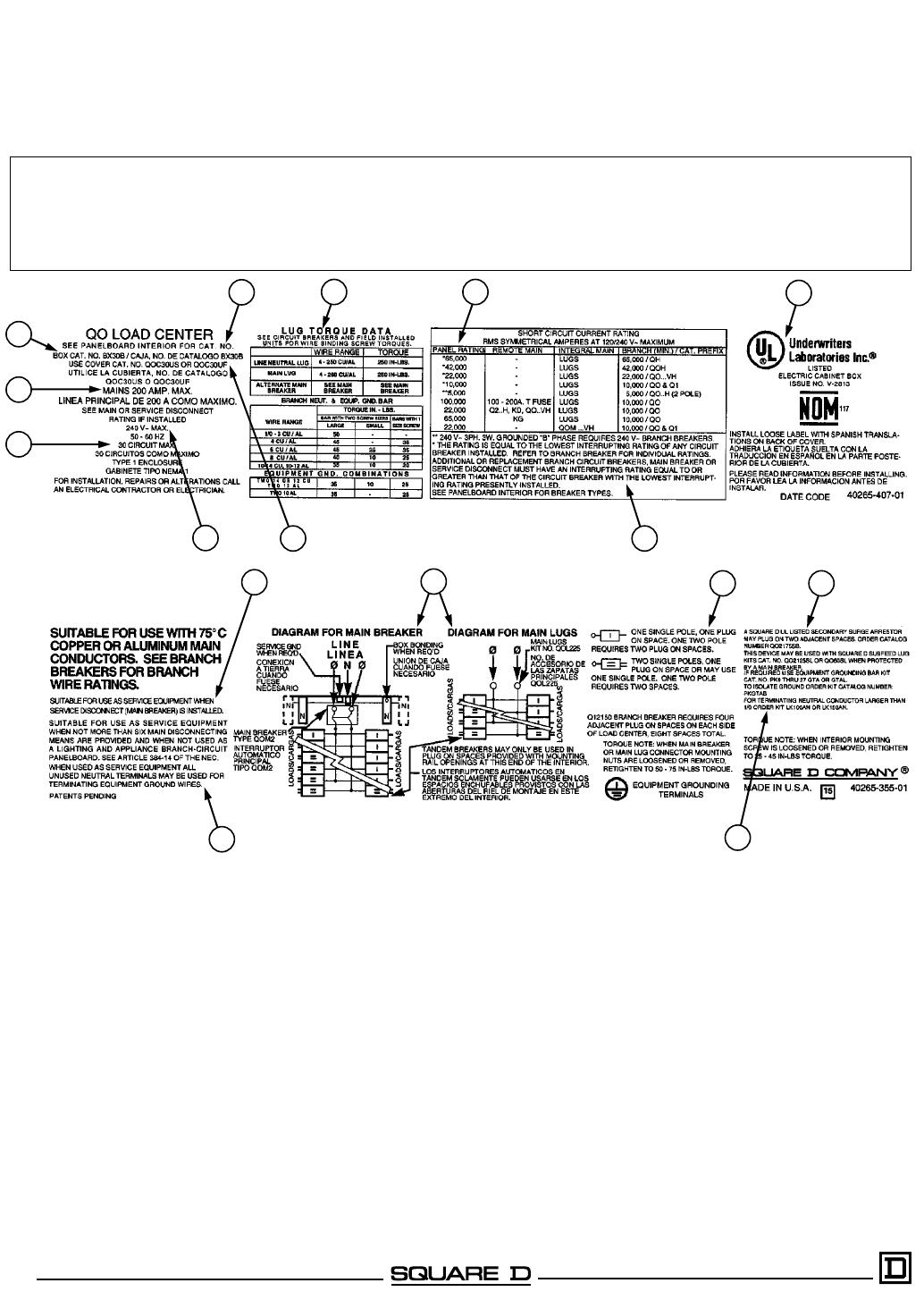 312301 Catalog 30a Load Center Wiring Diagram Qo Circuit Breaker Centers