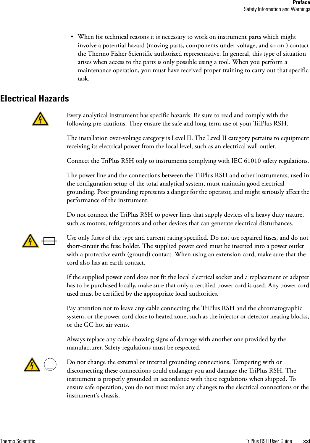 TriPlus II 31709620 Tri Plus RSH User Guide