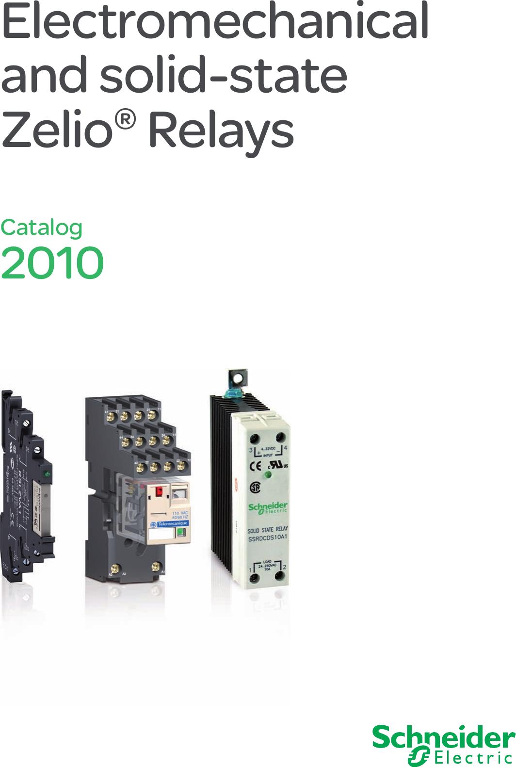 Schneider Electric Zelio Relays Catalog 336277 Under Current Relay