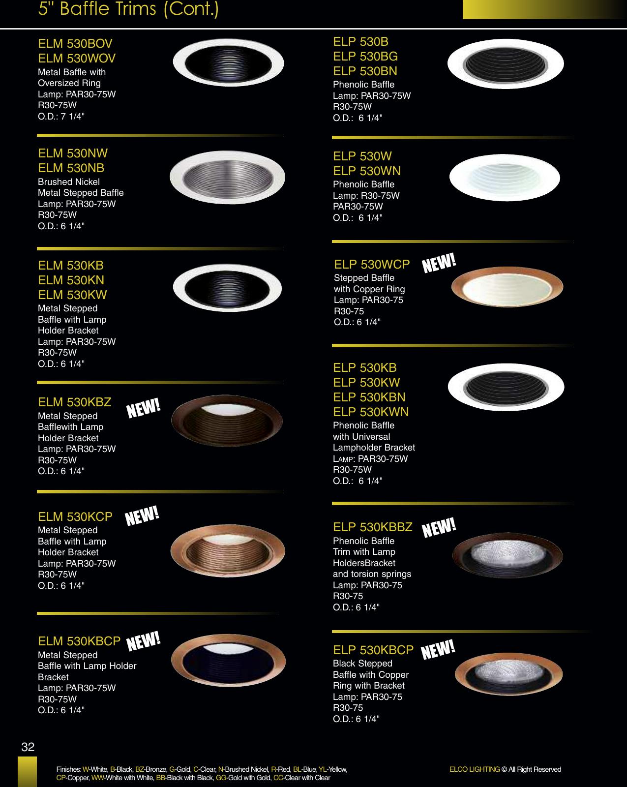 Elco Lighting EL 2517WW 6 LV EYEBALL ALL WHITE