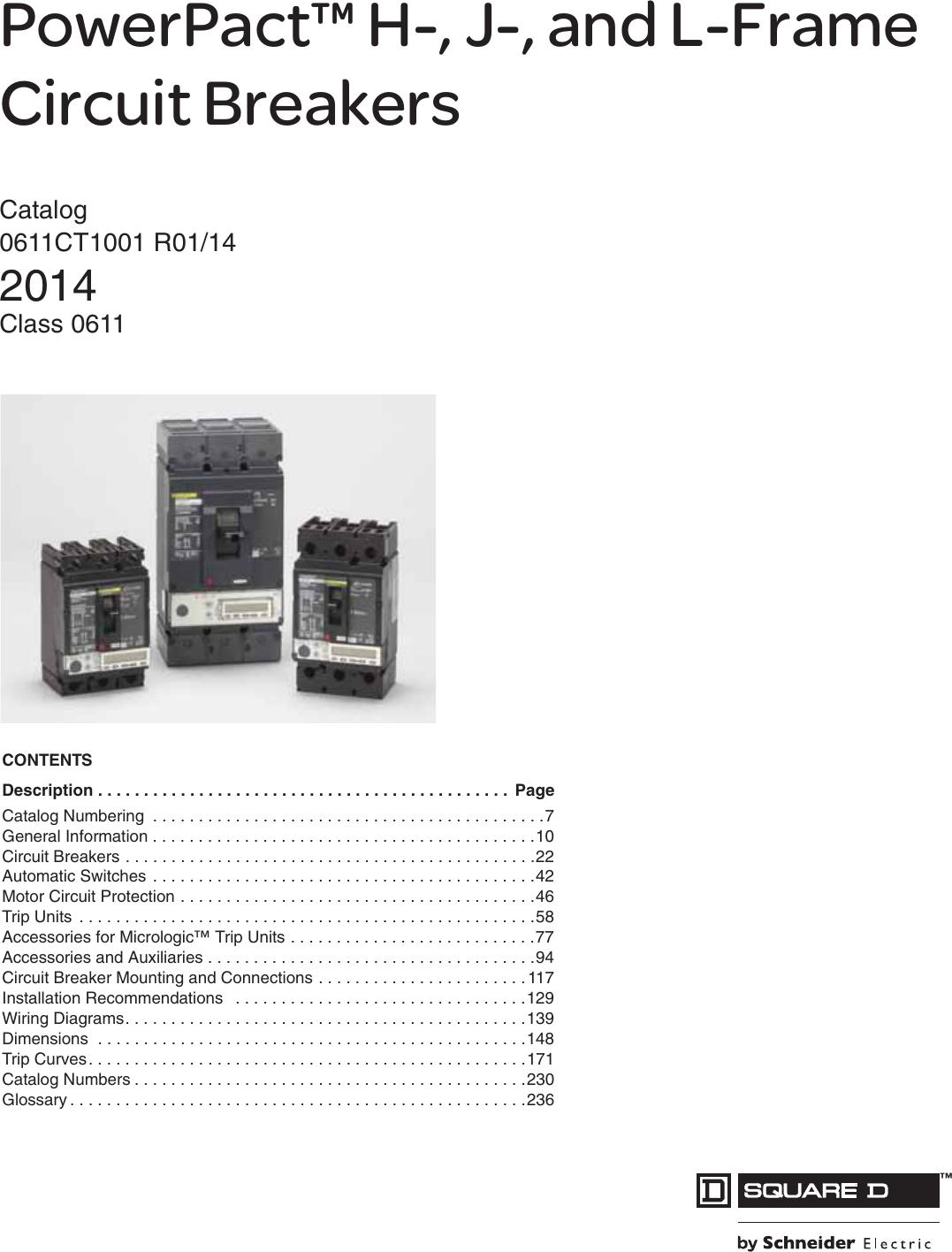 Square D HD 060 HDL 36050 PowerPact Circuit Breaker