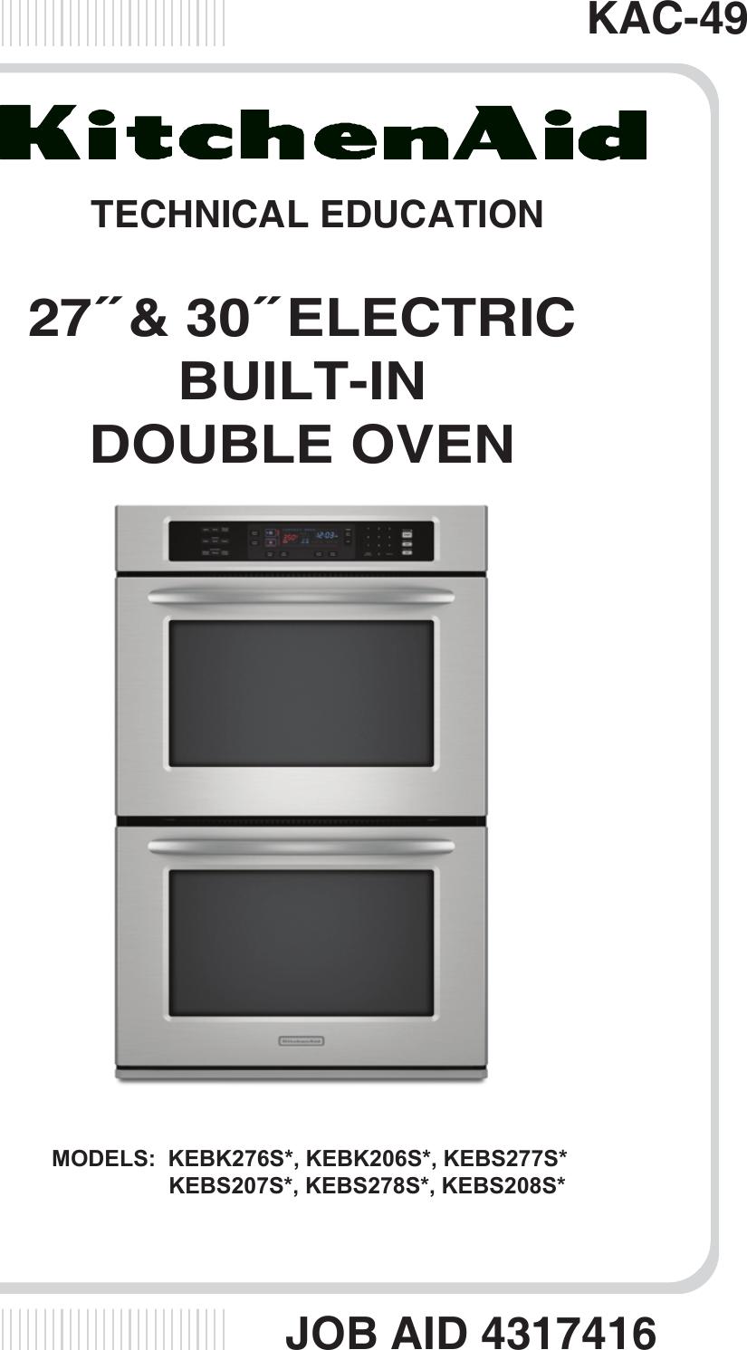 4317416 kitchen aid 27 30 inch double oven kac 49 rh usermanual wiki