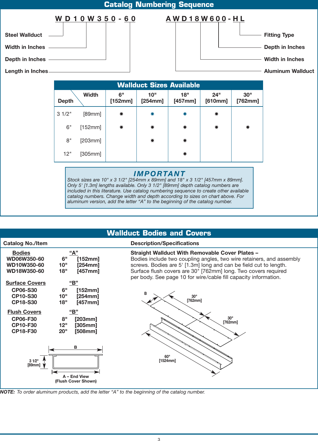Steel & Aluminum Wallduct Product Specifications 496155 Catalog