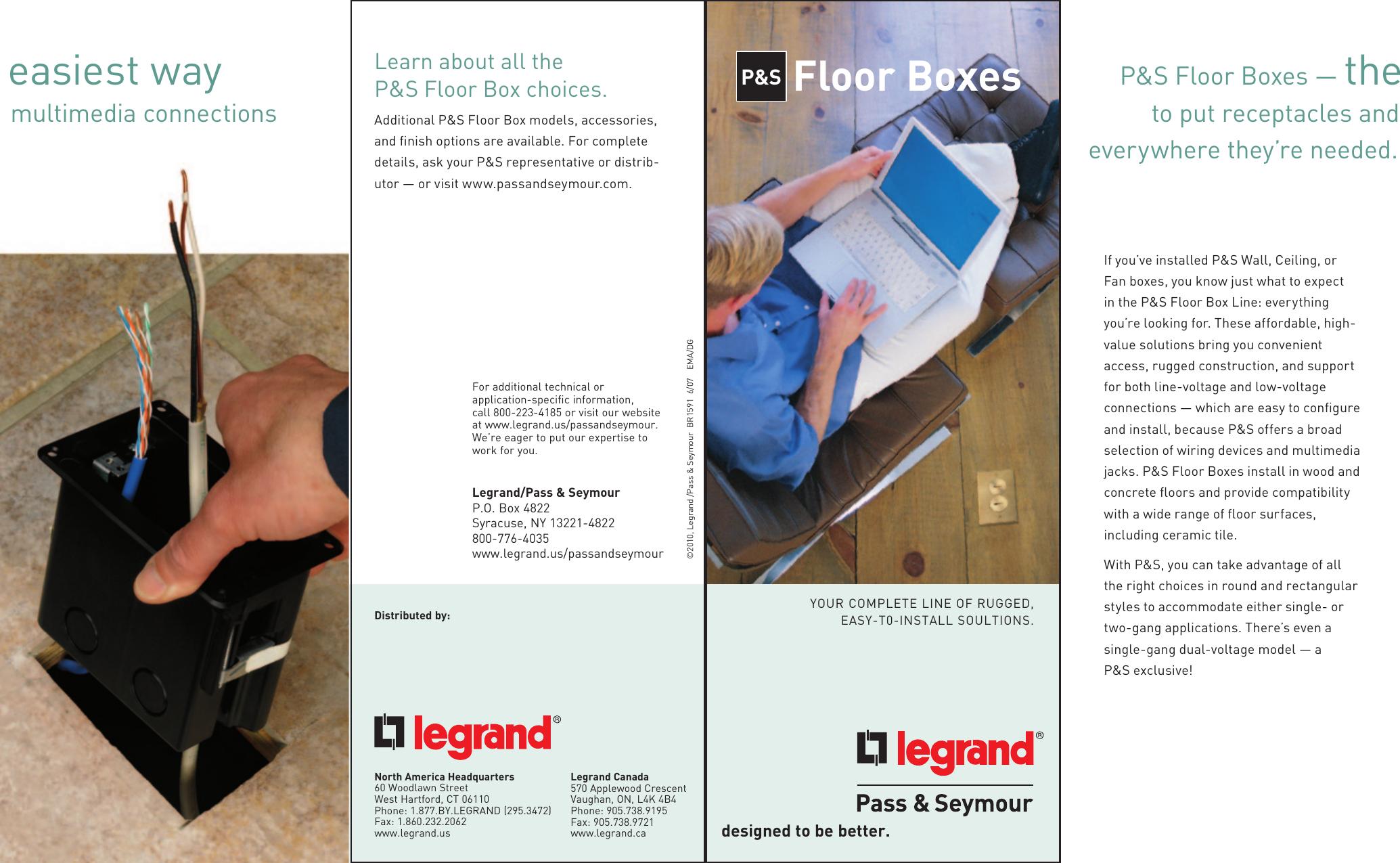 Legrand-Pass /& Seymour TM1542BOX Pass /& Seymour Tm1542-Box Floor Box 38 Cu In