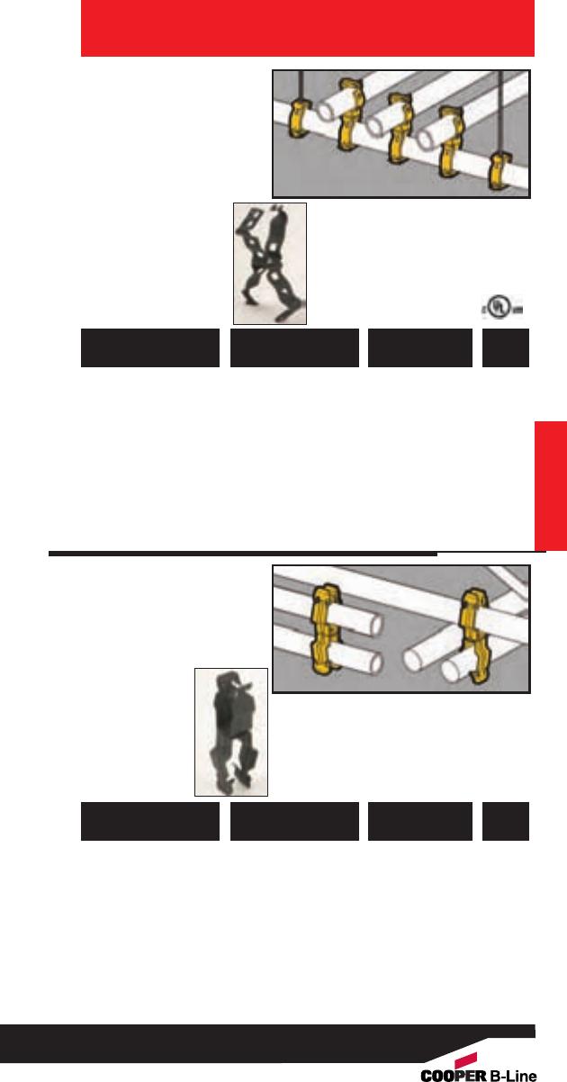 "COOPER B-LINE BE-1-2 BEAM FASTENER FLANGE CLIP 100-PACK STEEL, 3//32/""-9//32/"""
