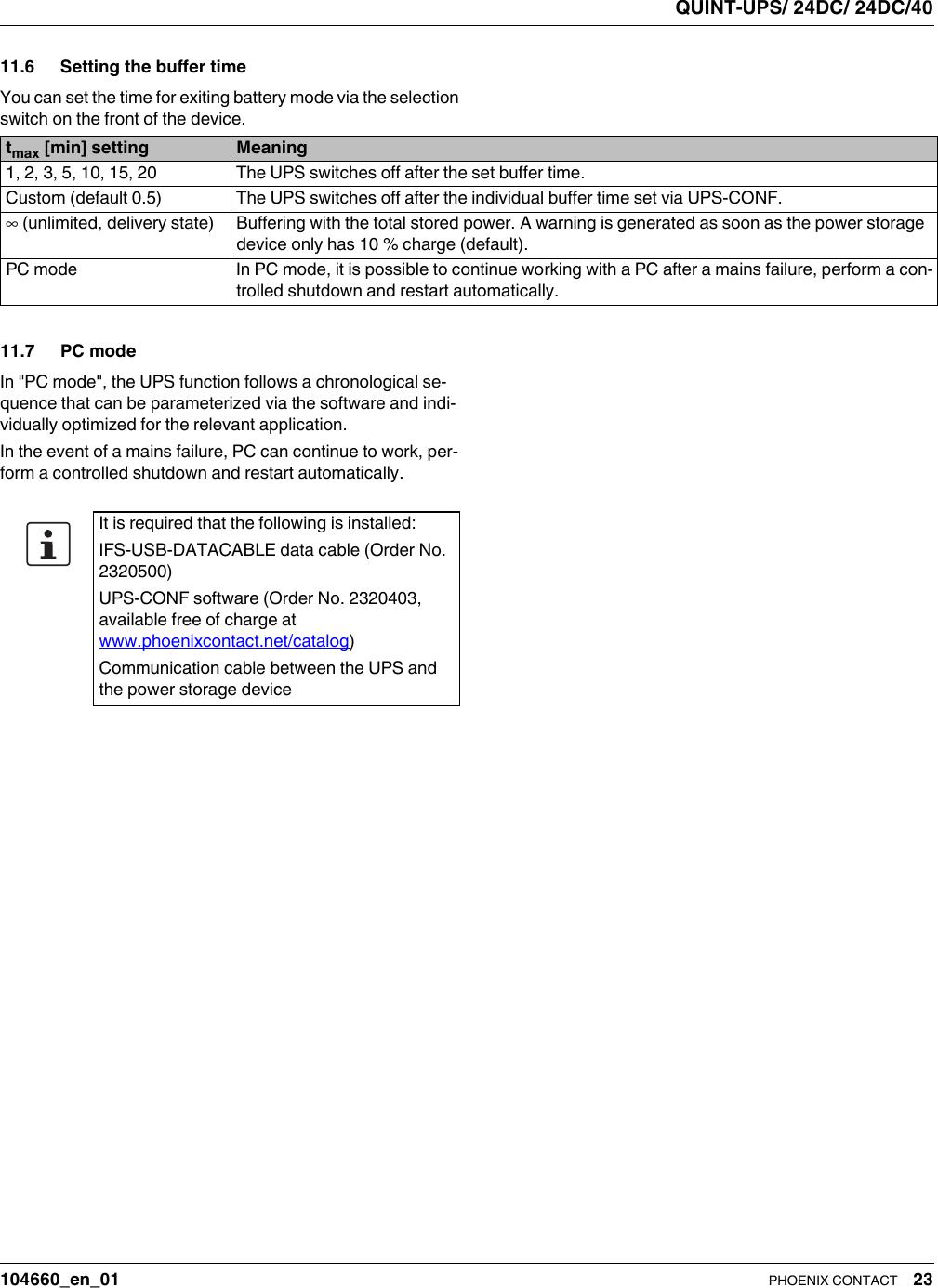 Datenblatt DB EN QUINT UPS/ 24DC/ 24DC/40 Brochure