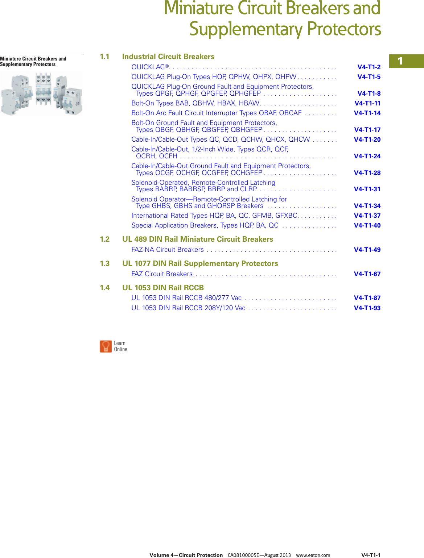 10A Eaton Mini Circuit Breaker 2 Pole DIN Rail C Trip  480Y//277VAC  FAZ-C10//2-NA