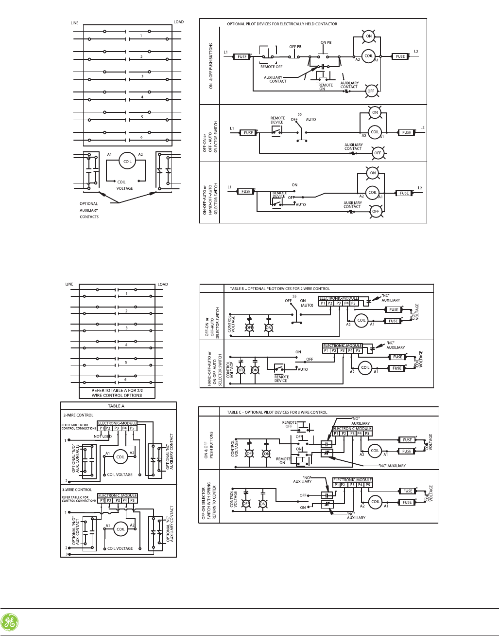 Ge Lighting Contactor Wiring Diagram from usermanual.wiki
