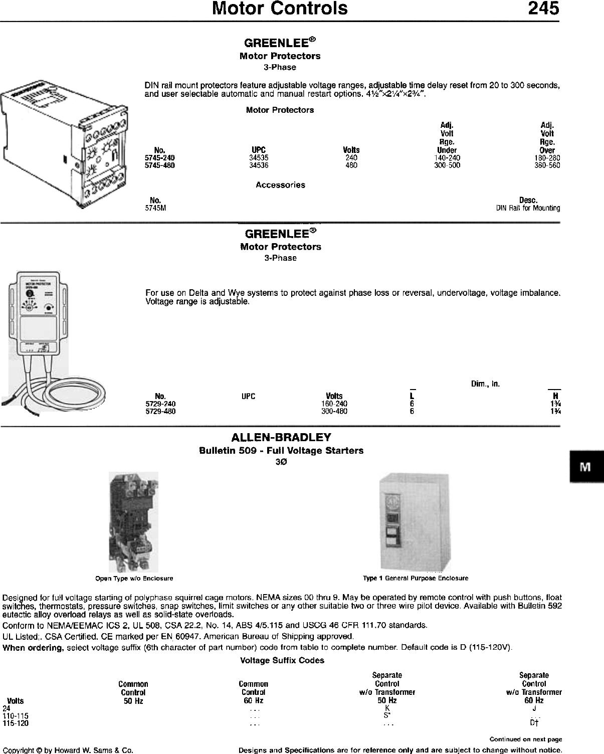 Motor Controls 245 332 Hot Water 250dc Fuse Box
