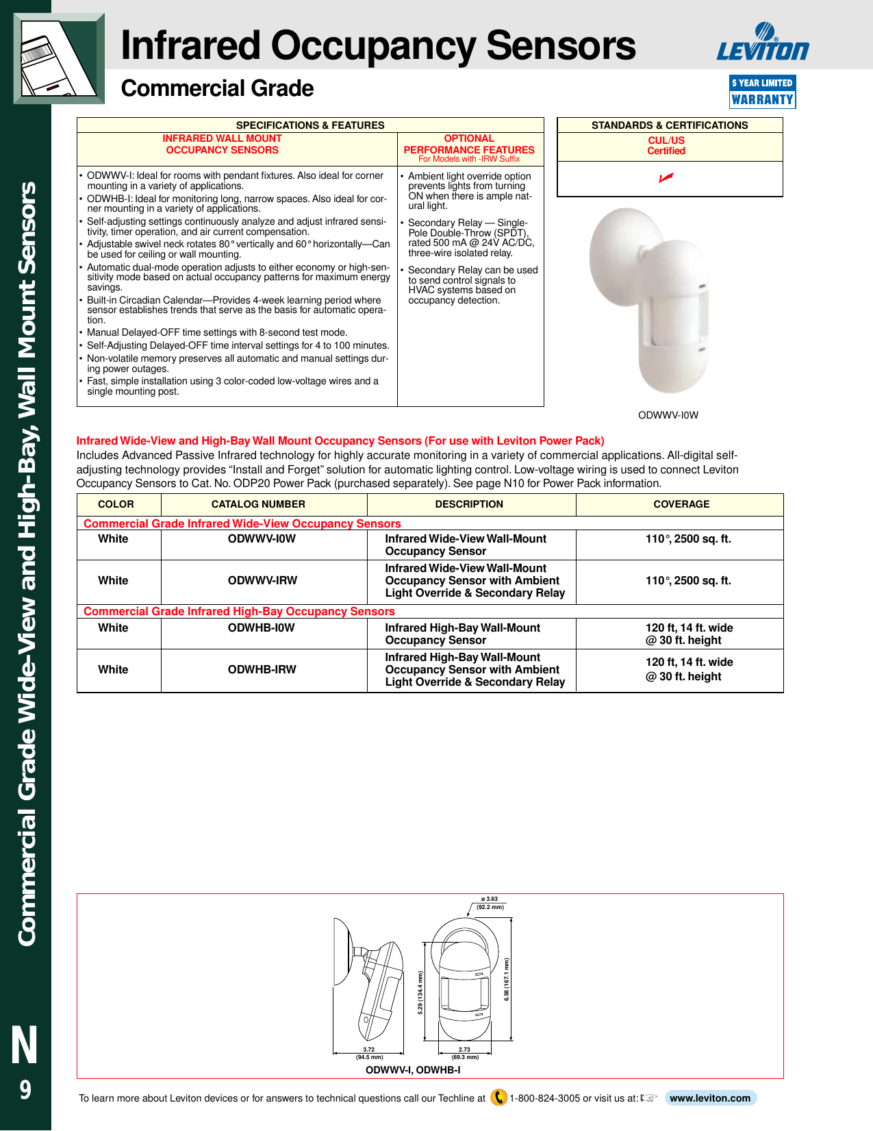Section N Occupancy Sensors And Lighting Control Products Threewire System Wall Mount Automatic Ir Motion Sensor Light Switch Page 10 Of 12