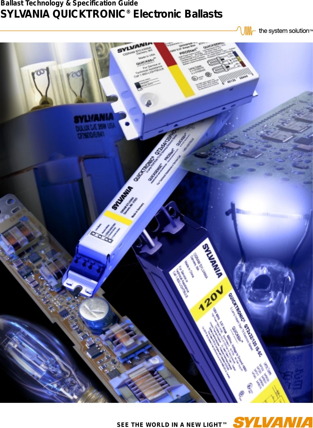 Osram Sylvania Quicktronic QT 2X54//120 PHO Fluorescent Lamp Ballast