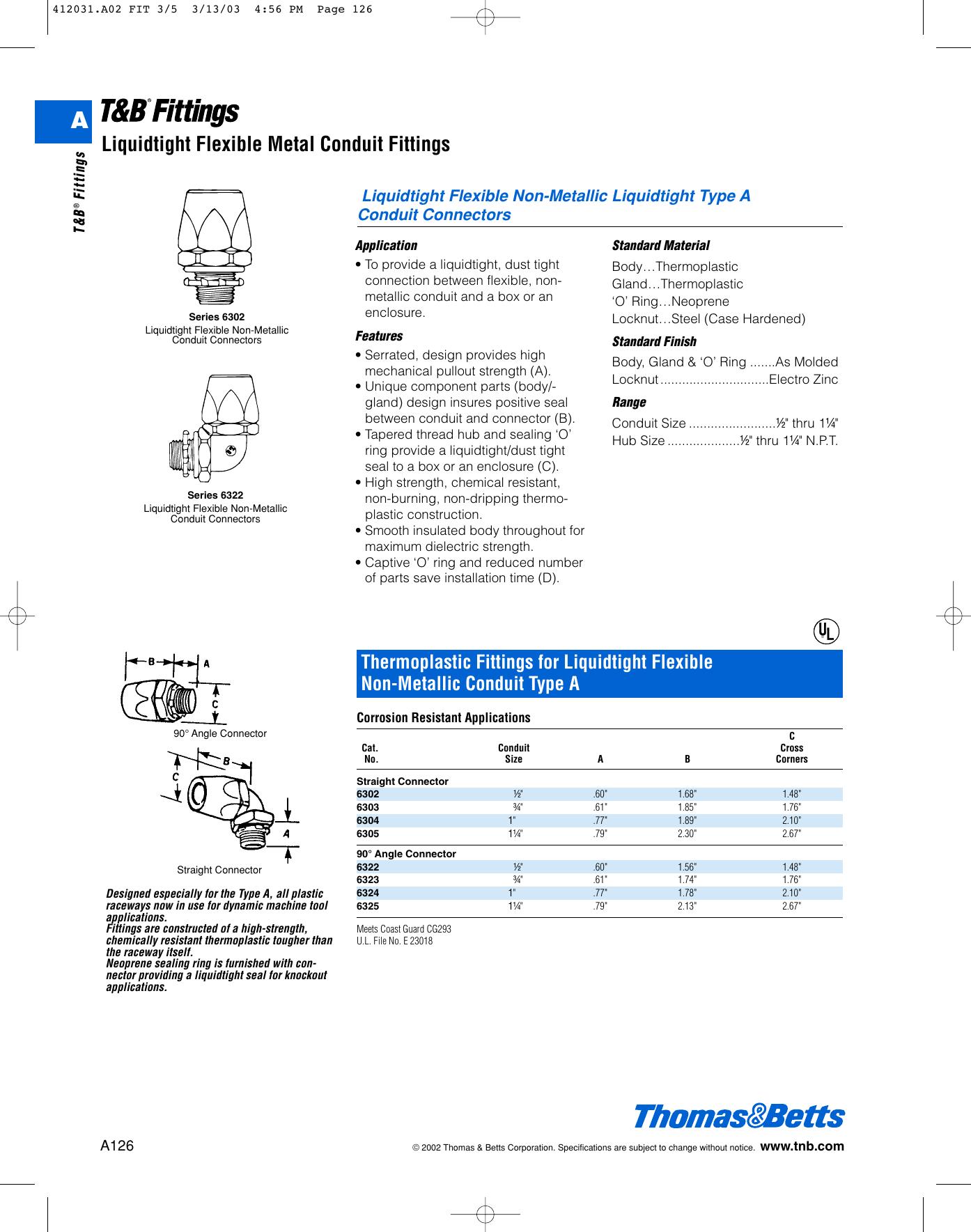 T&B Fittings Catalog 93457