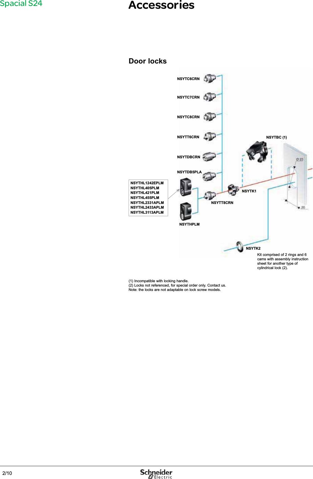 Schneider NSYAMPA1916TB Thalassa TBP Fixing Accessory White