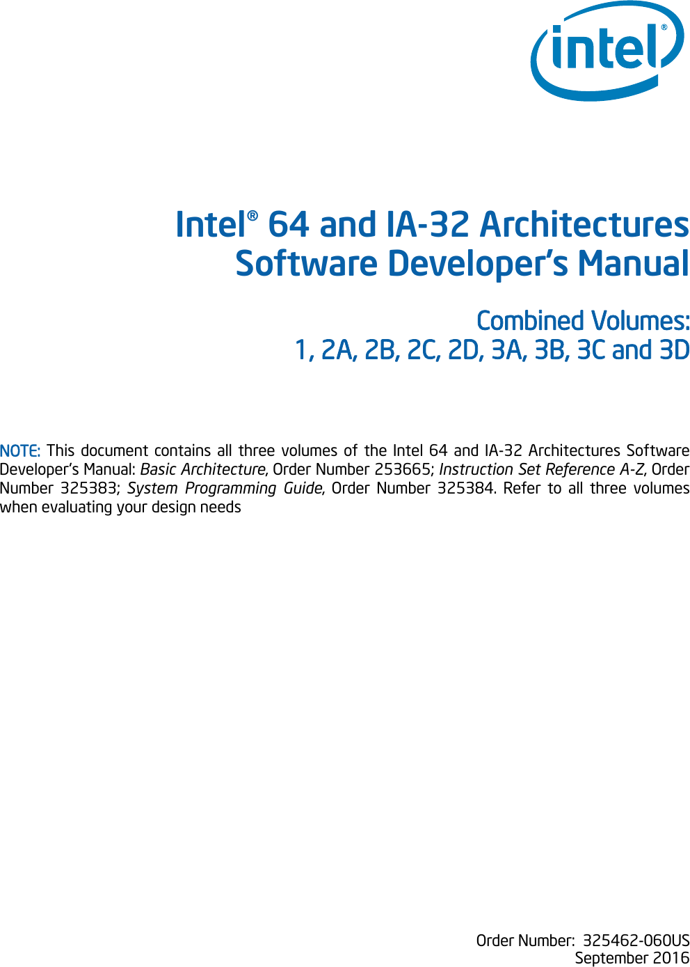 Intel® 64 And IA 32 Architectures Software Developer\'s Manual ...