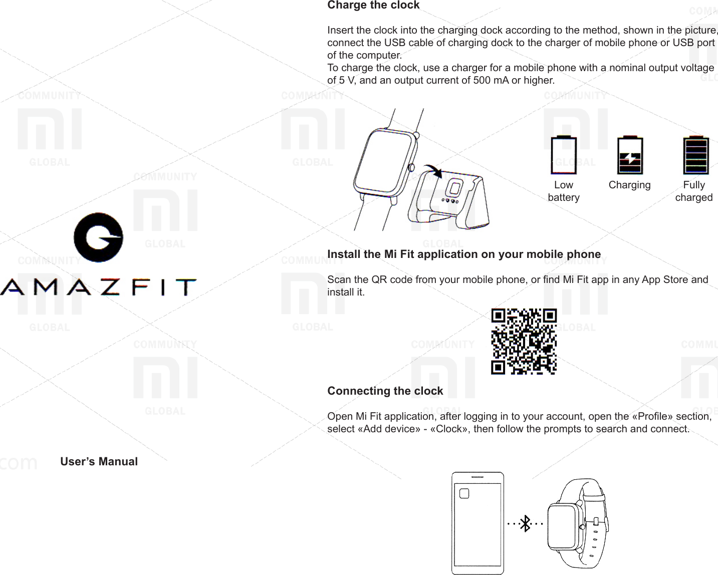 Amazfit Bip Smart Watch (Youth Edition) Operating Guide Smartwatch