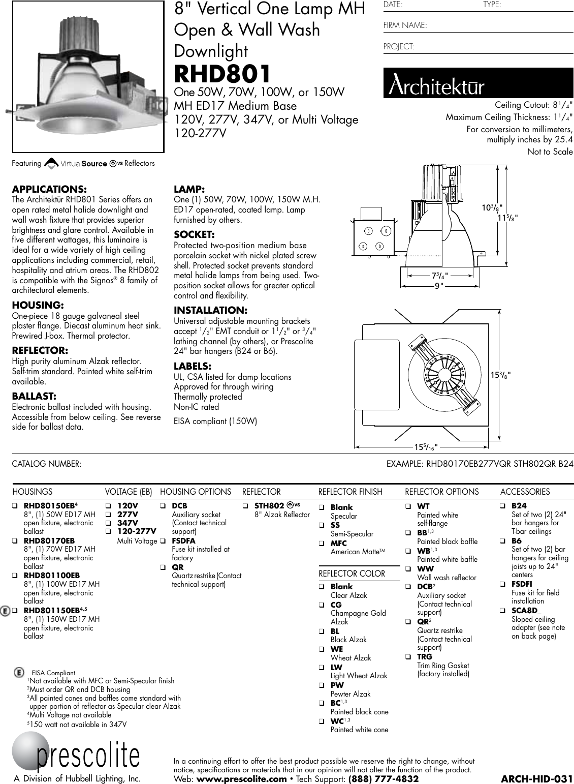 Arch Hid 031 Light 277v Electrical Wiring Diagrams Archhid031418166164 User Guide Page 1