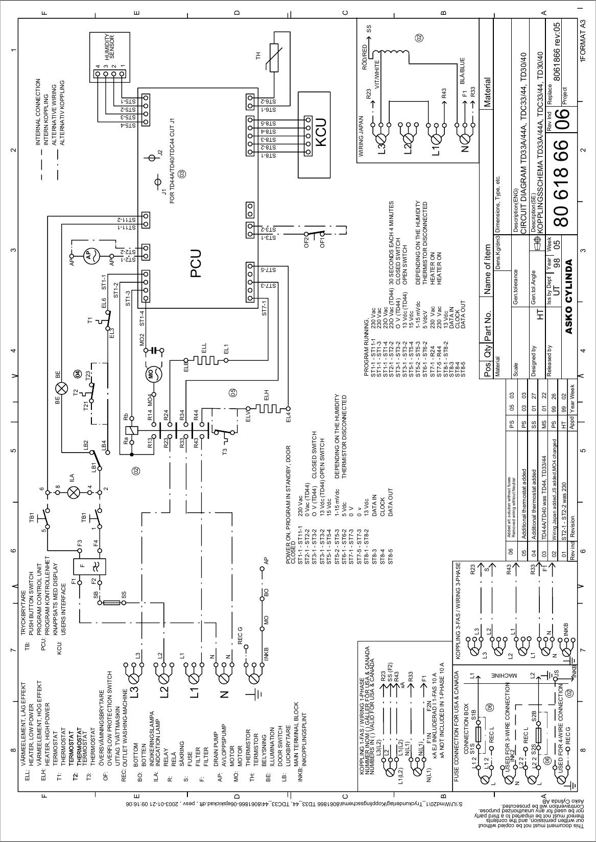 8061866 06ejskickad dft asko dryer td33a 44a, tdc33 44, td30 40 Estate Dryer Wiring Diagram