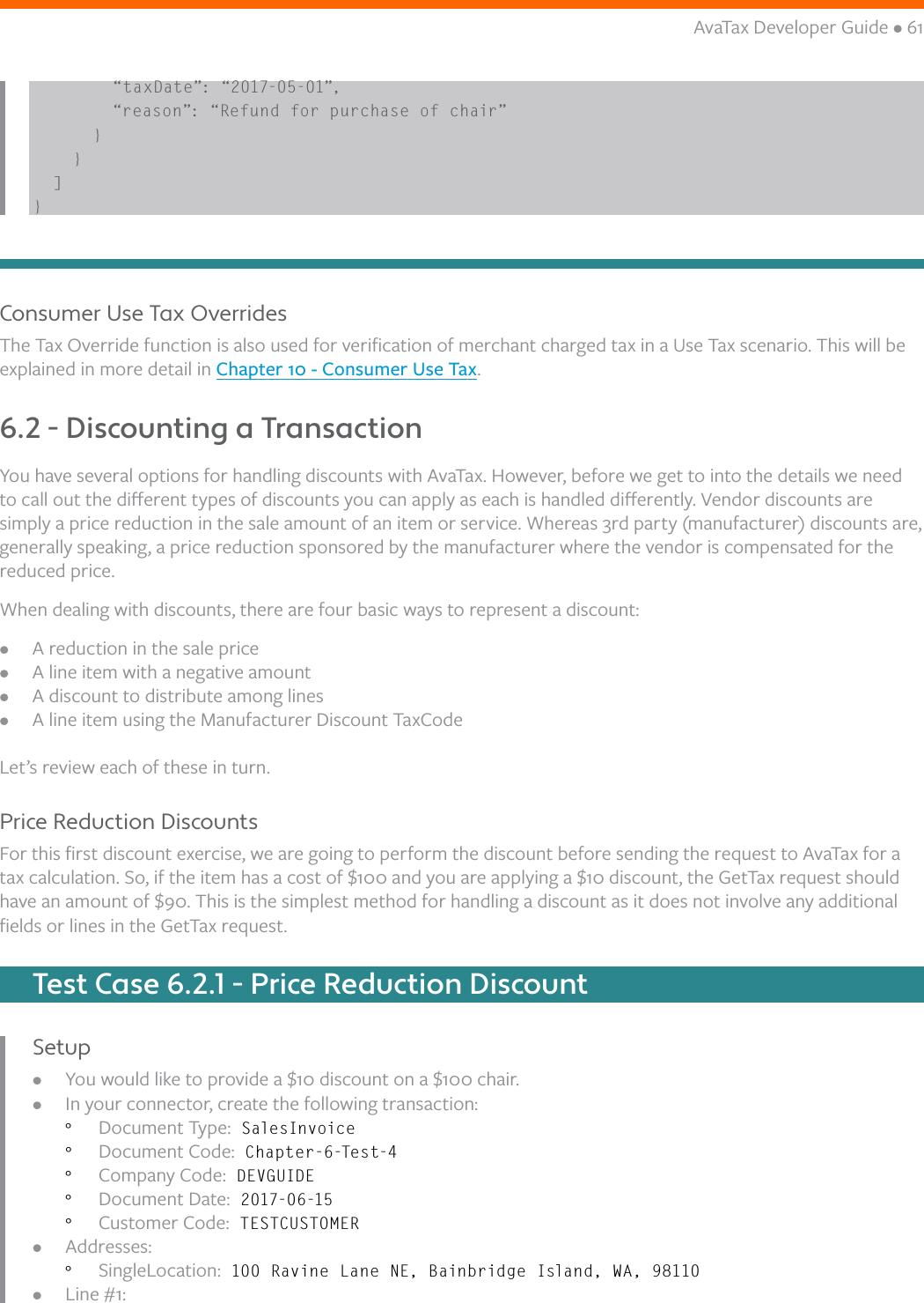 Ava Tax API Developer Guide