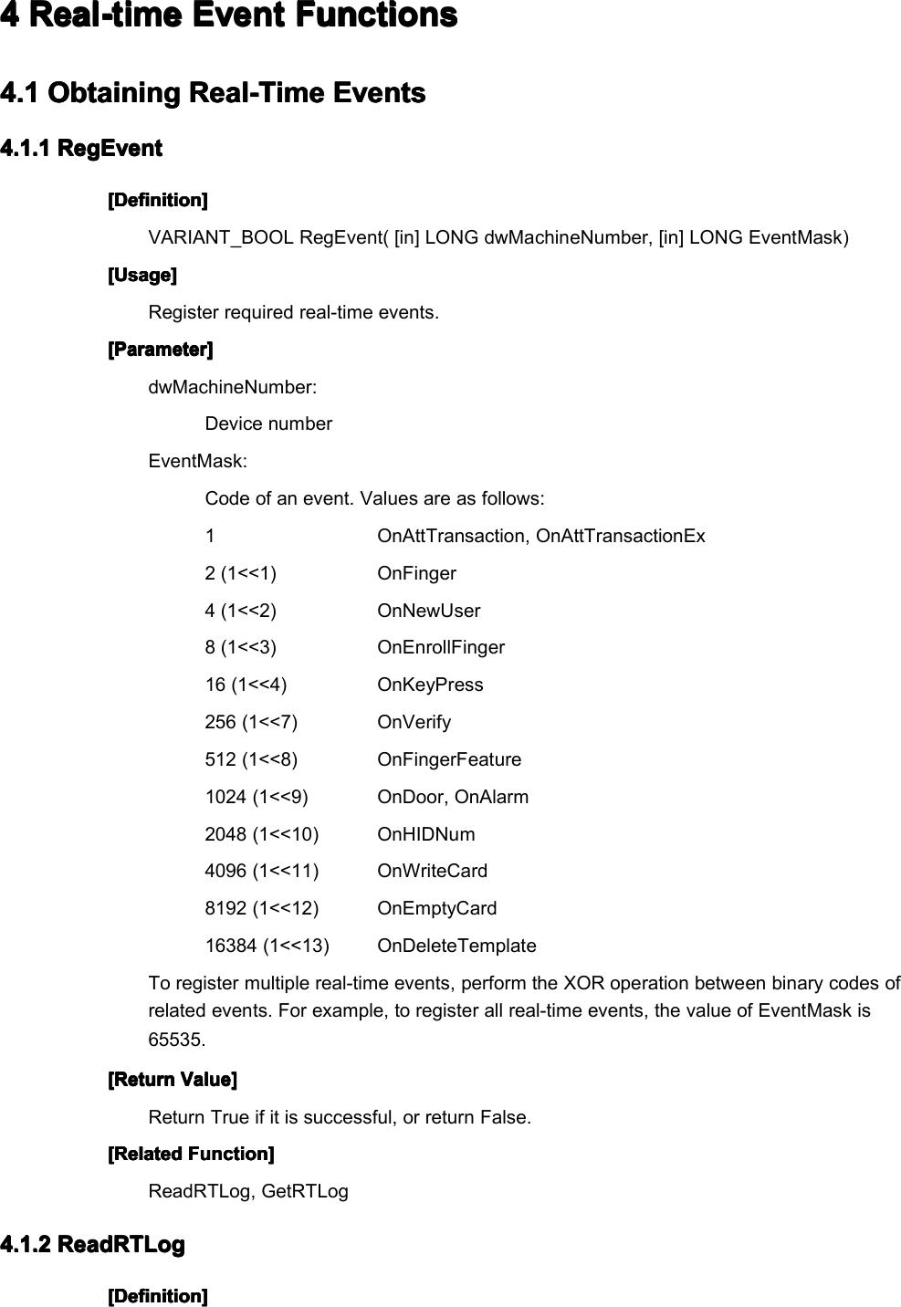 B&W Series SDK Manual