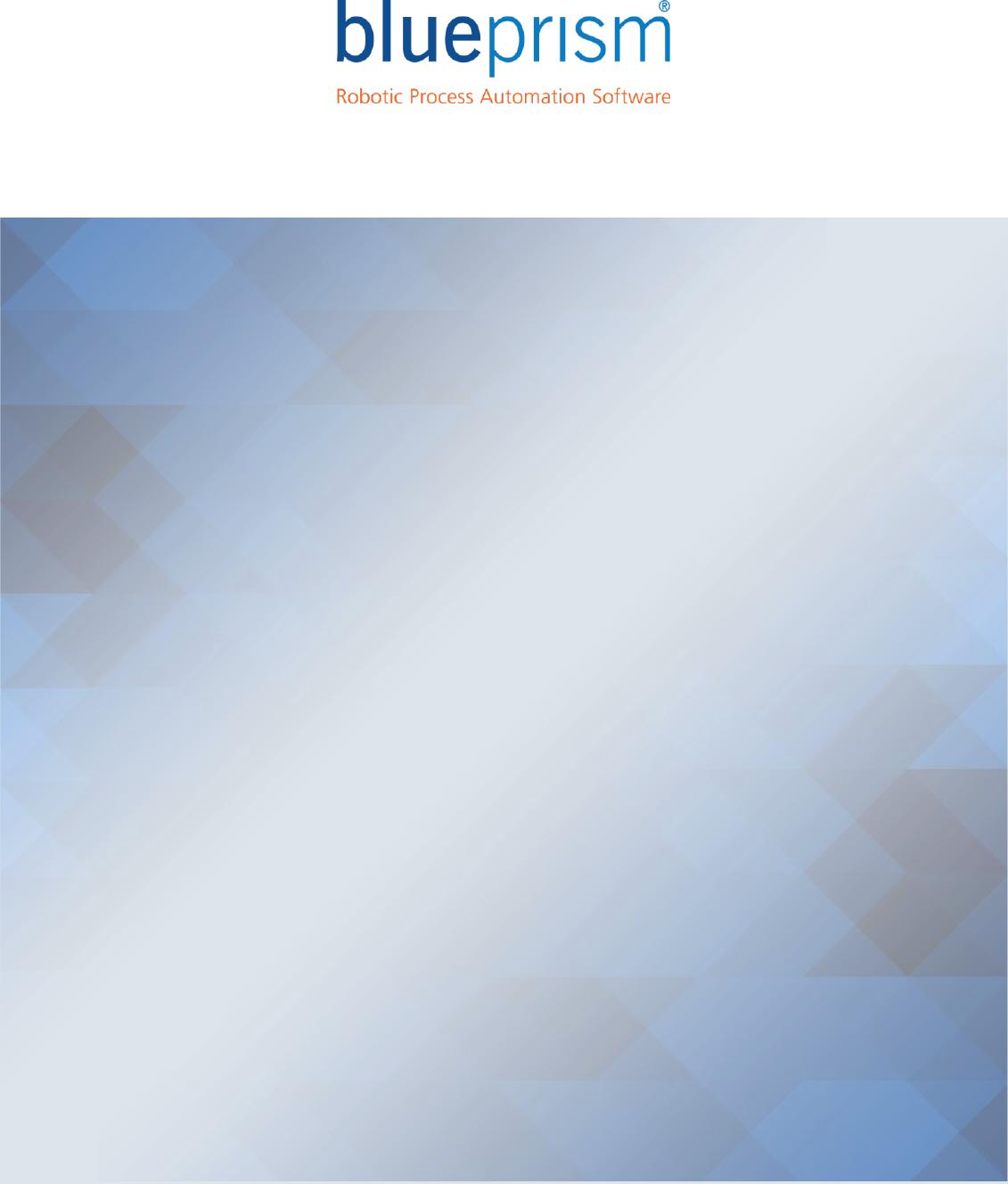 Web Services Blue Prism User Guide