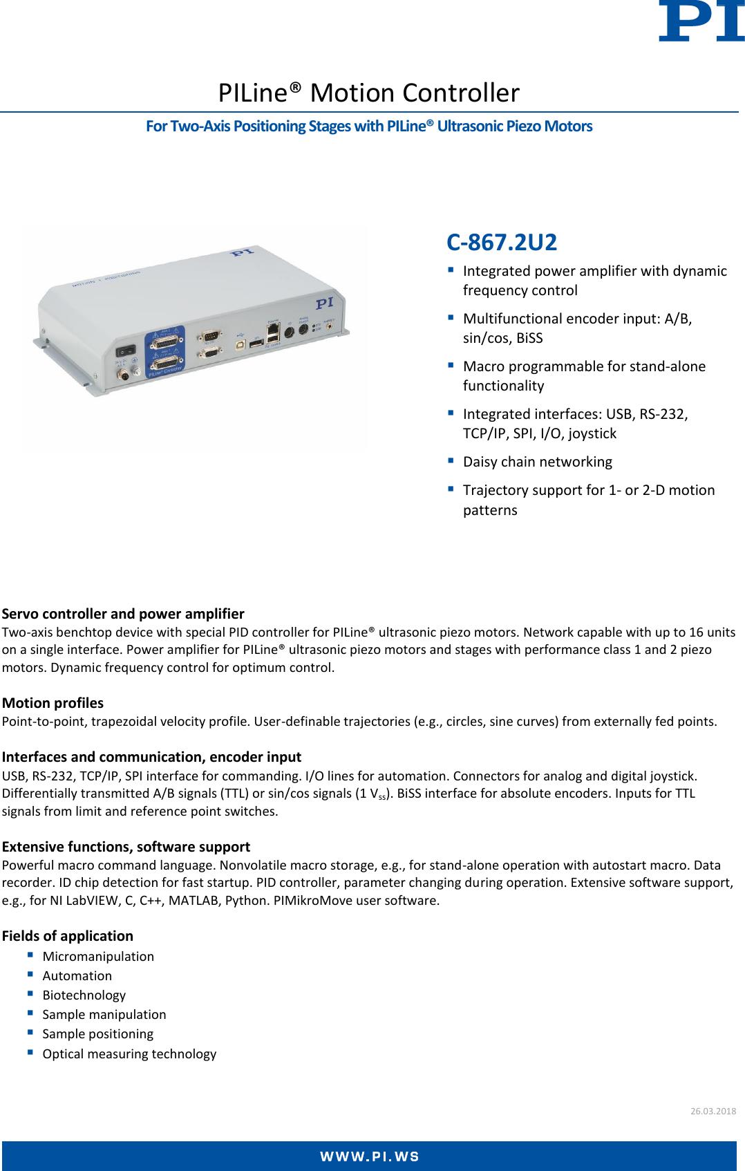 C 867 2U2 Datasheet