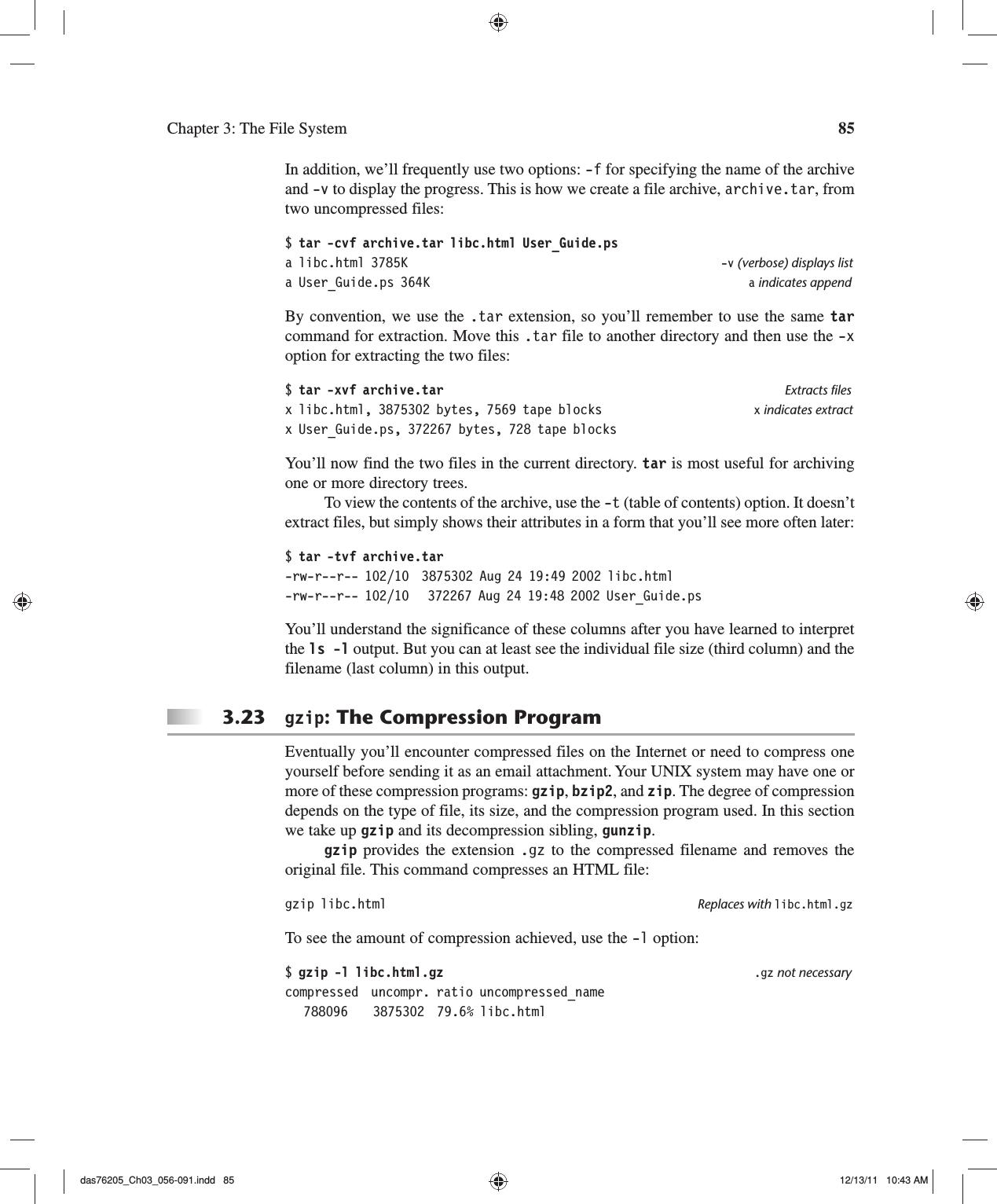 Gunzip List Files