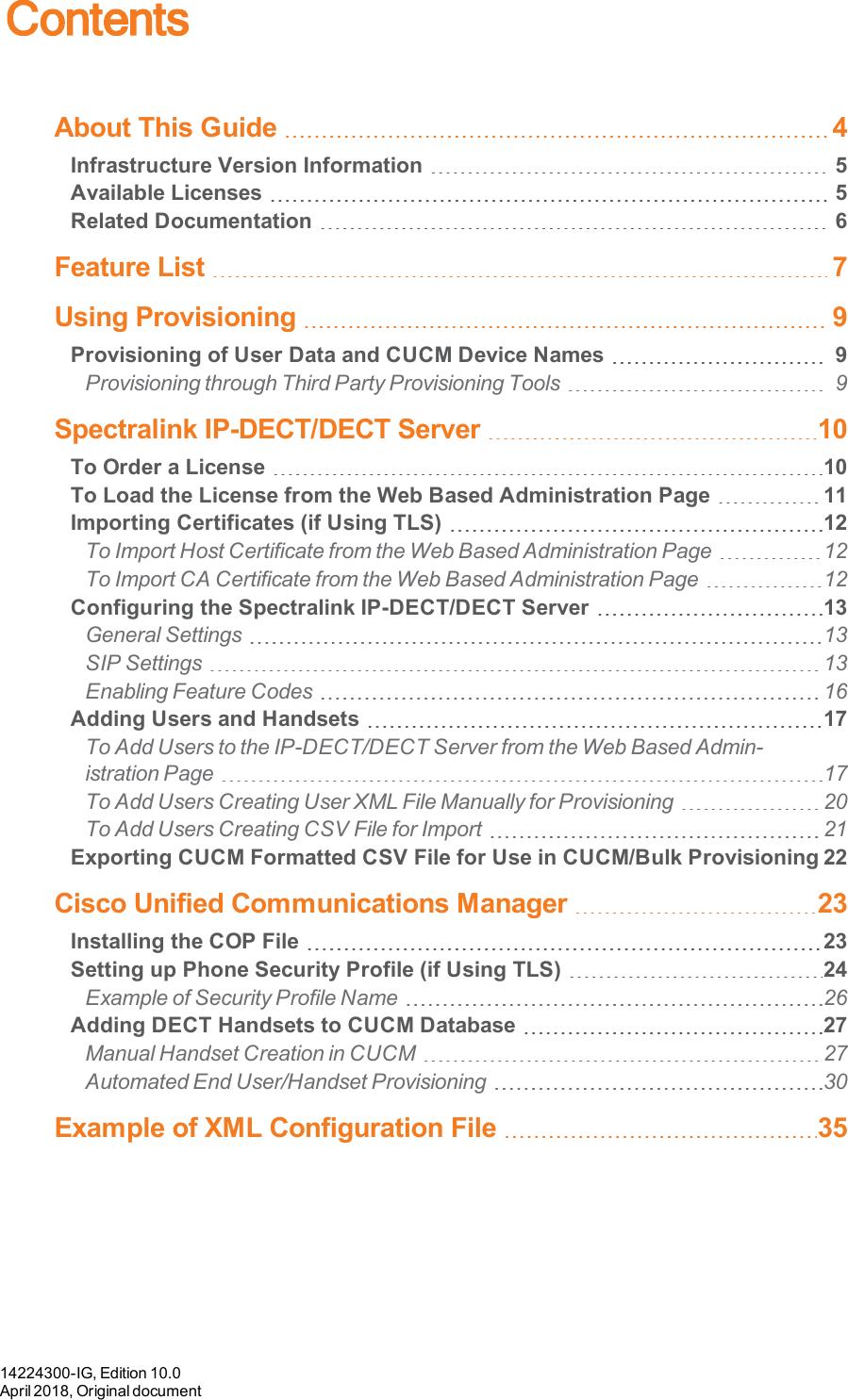 14224300 IG Spectralink CUCM Interoperability Guide, License