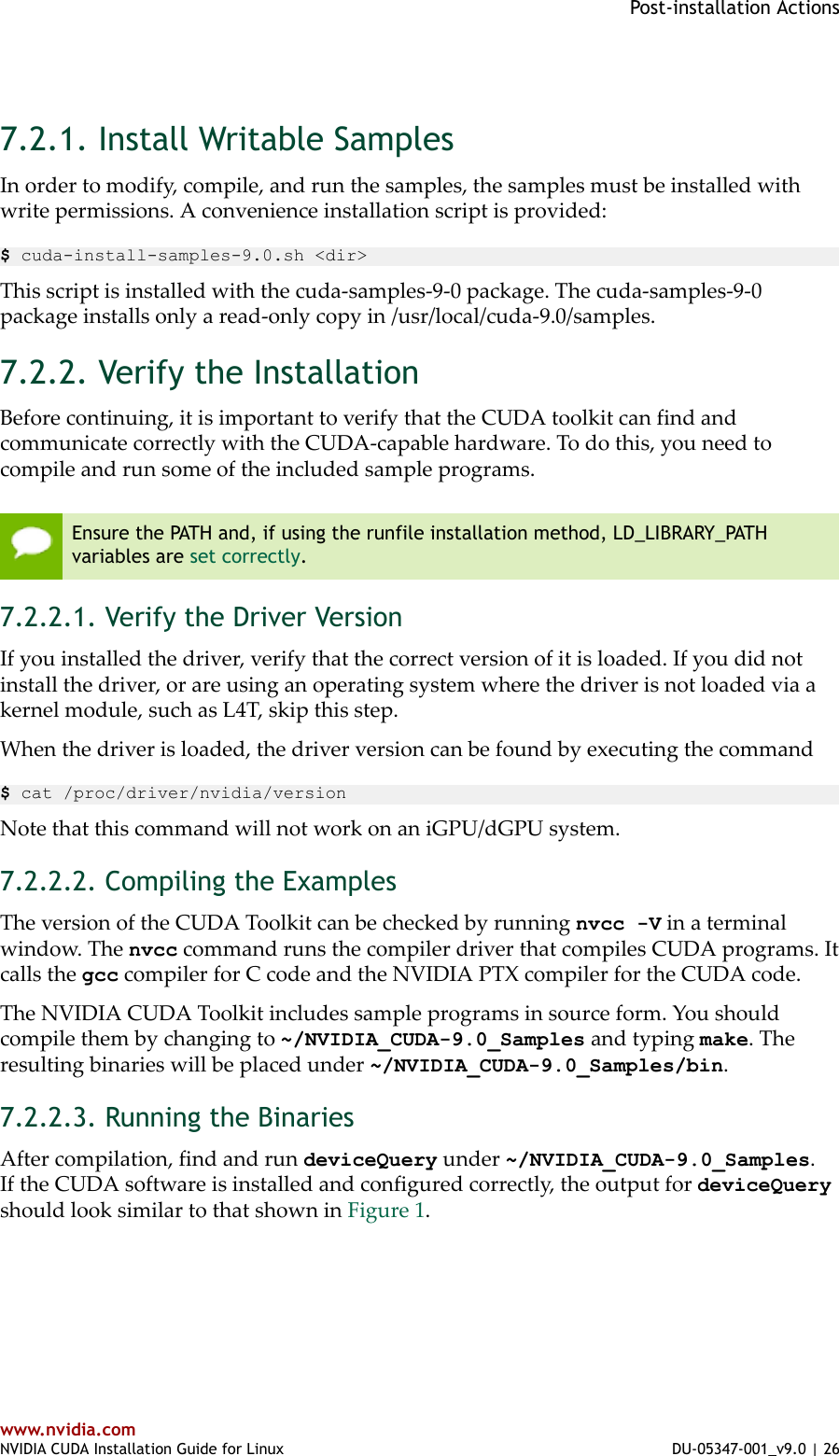 NVIDIA CUDA Installation Guide For Linux