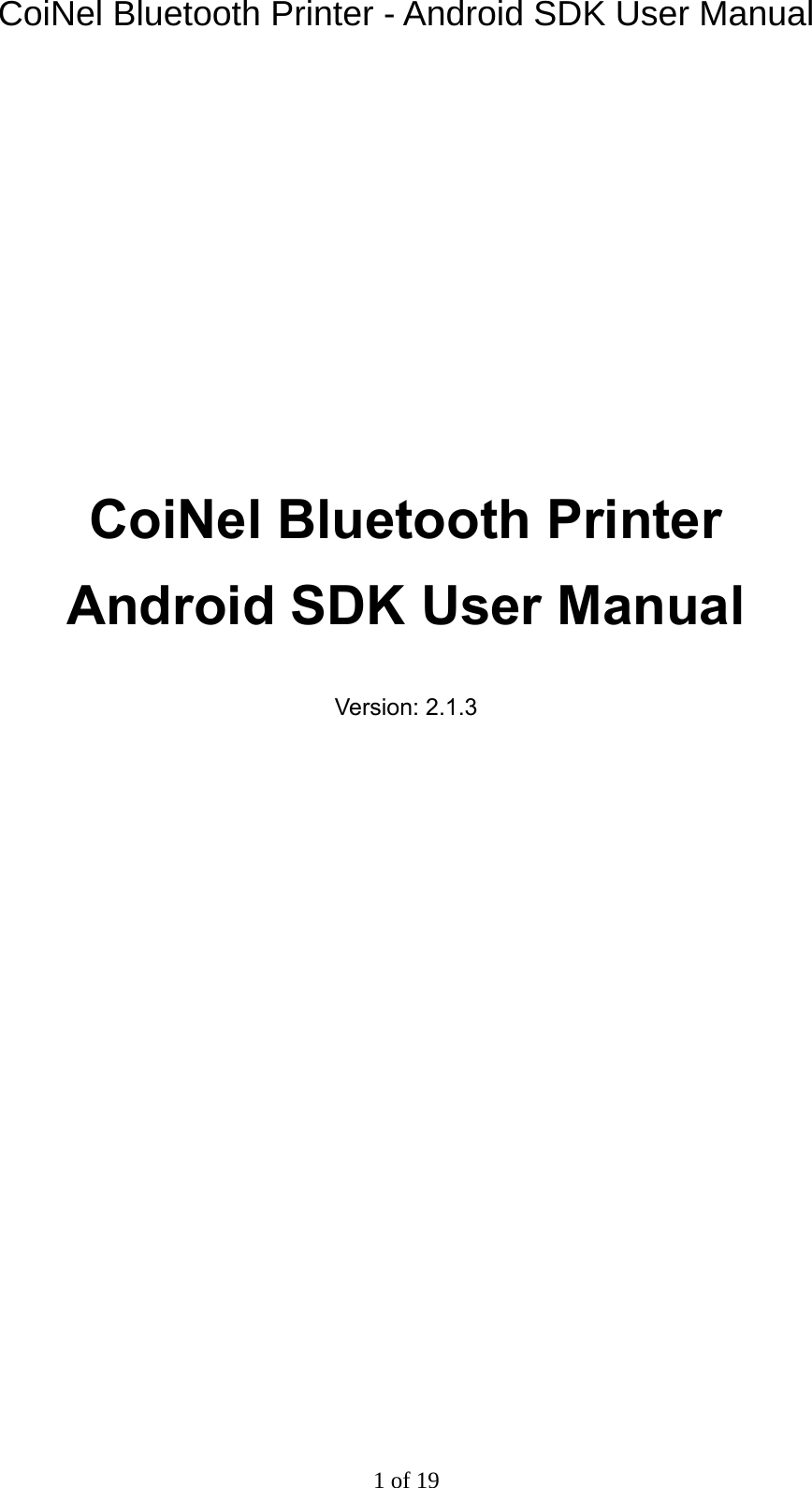 THERMAL PRINTER – ESC COMMANDS MANUAL Coi Nel Bluetooth