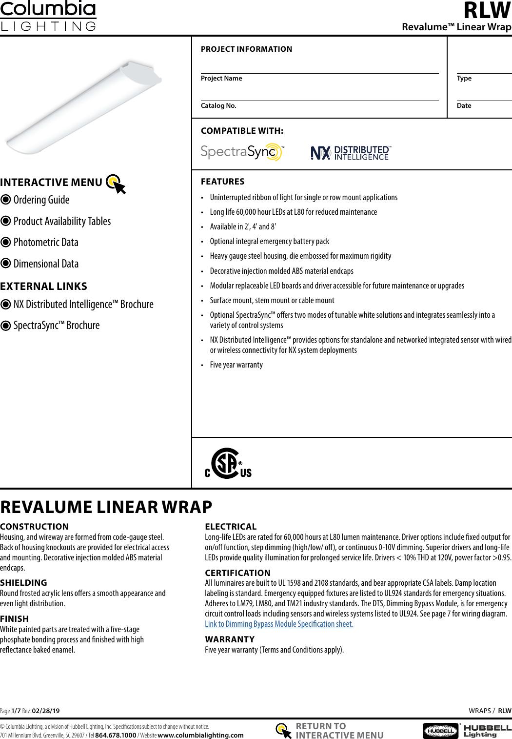 columbia step ballast wiring diagram col rlw spec  col rlw spec