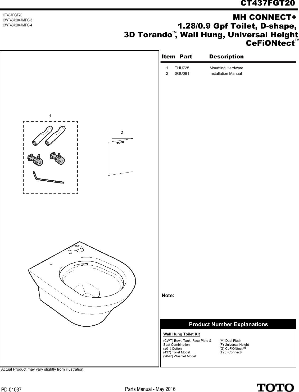 pm parts manual ct437fgt20 spare sheet rh usermanual wiki Fluidmaster Universal Toilet Flapper Handicap Toilets