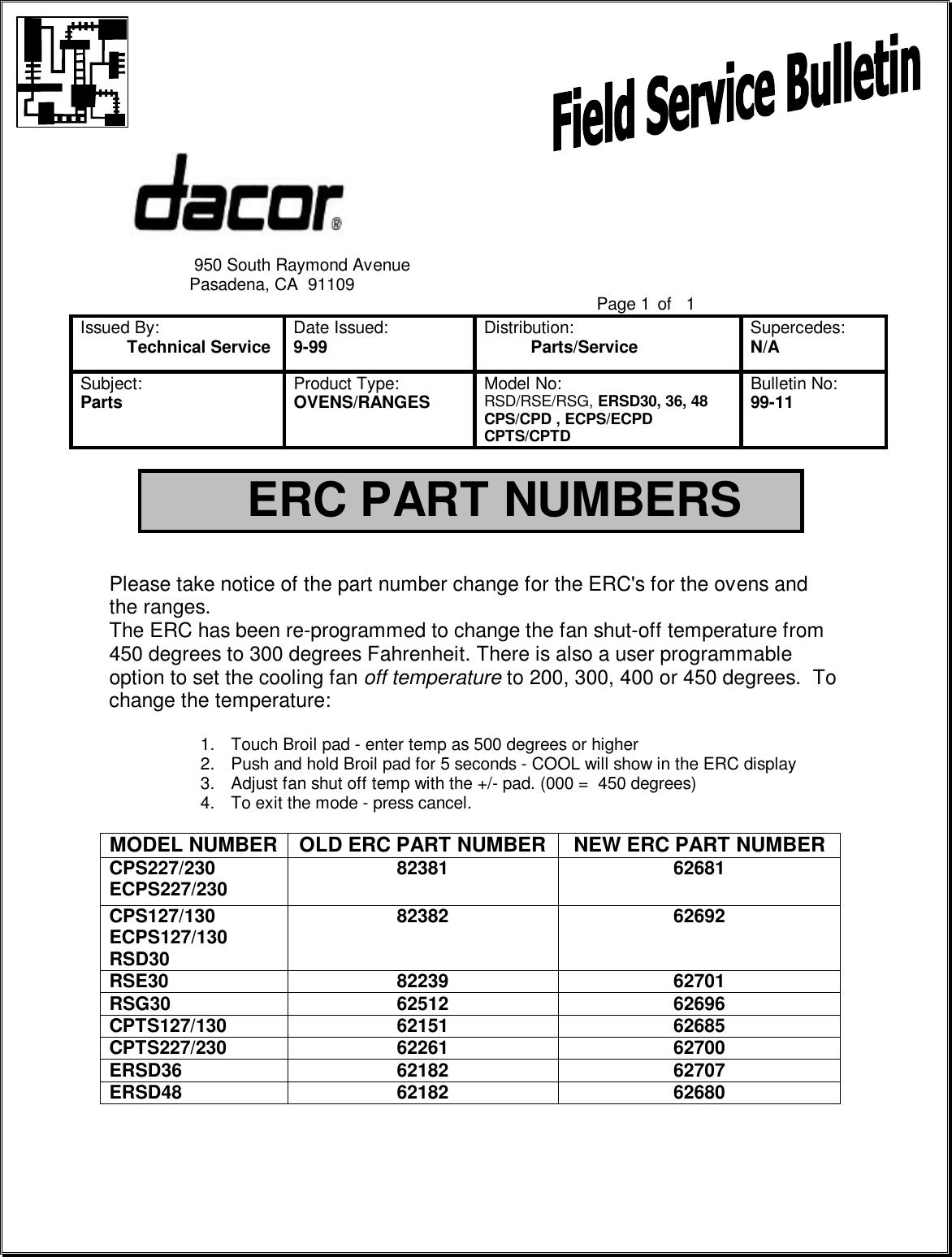 Dacor Epicure Ranges ERSD36 on