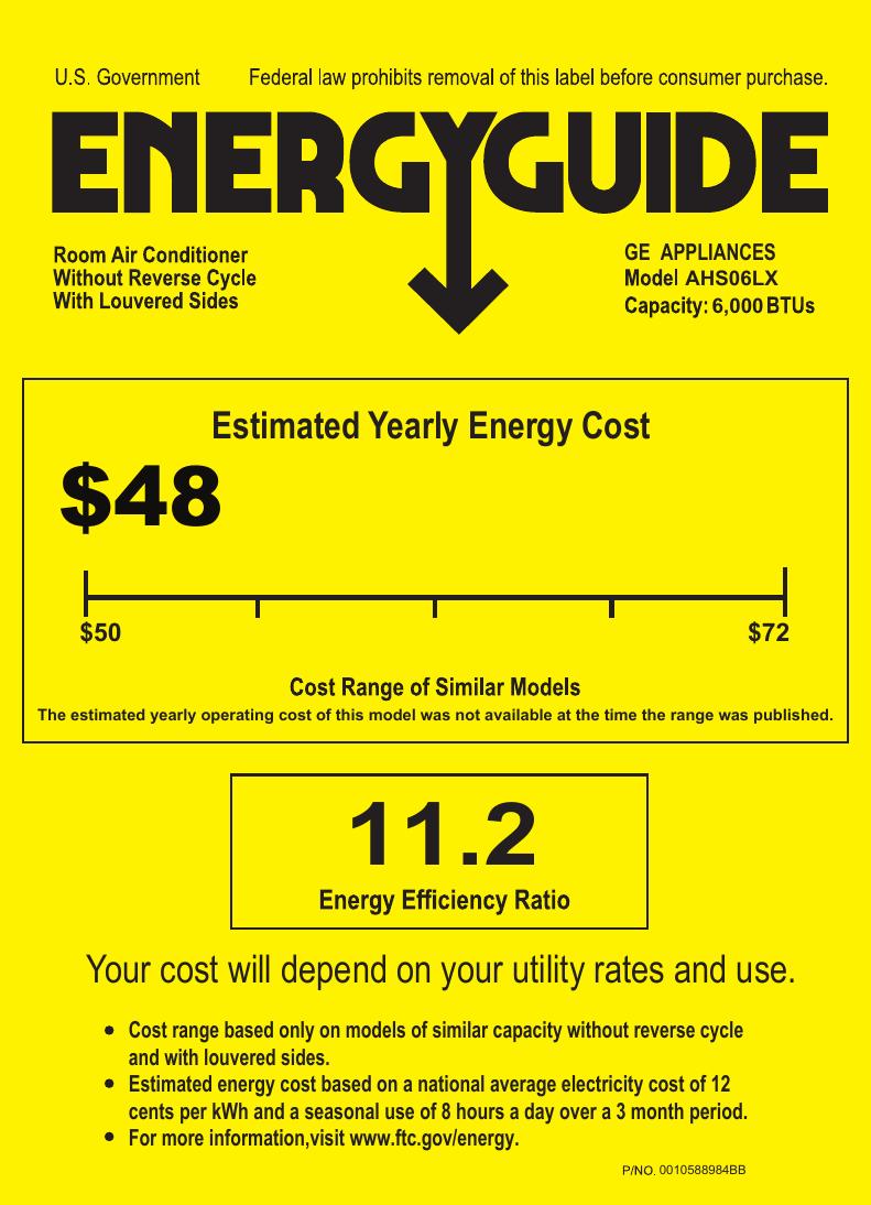 AHS06_ Energy Guide AHS06LX