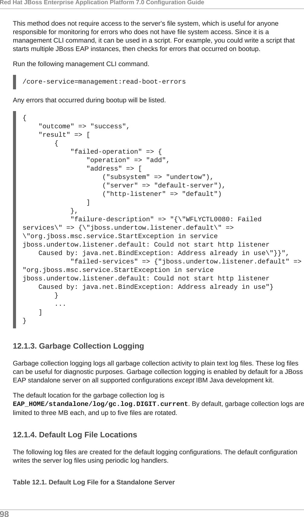 Red Hat JBoss Enterprise Application Platform 7 0 Configuration
