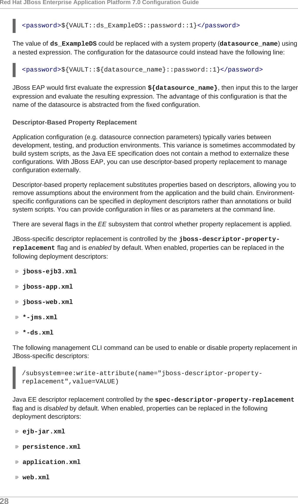 Red Hat JBoss Enterprise Application Platform 7 0
