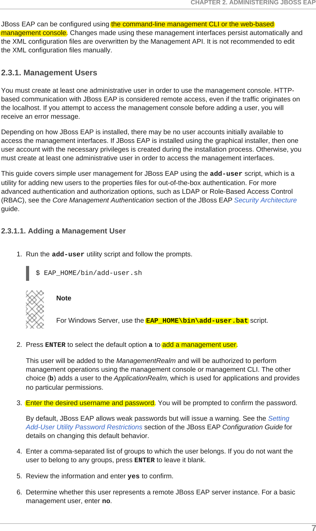 Red Hat JBoss Enterprise Application Platform 7 0 Getting