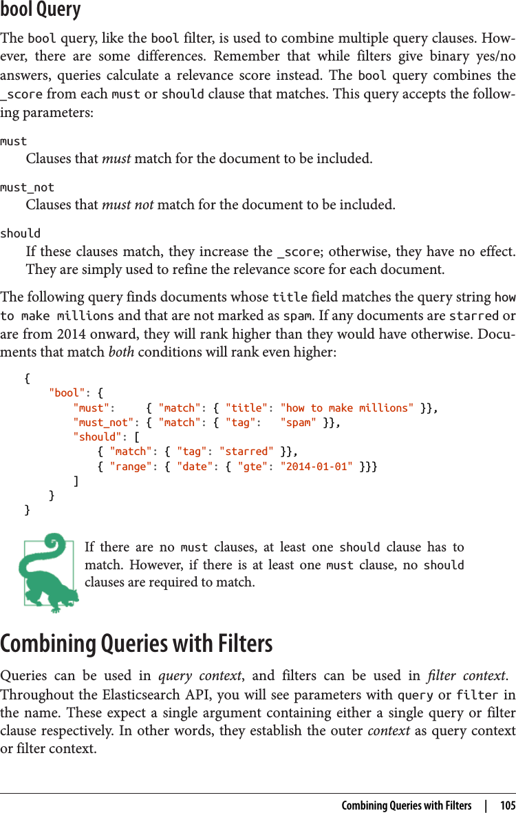 Elasticsearch Filter Bool