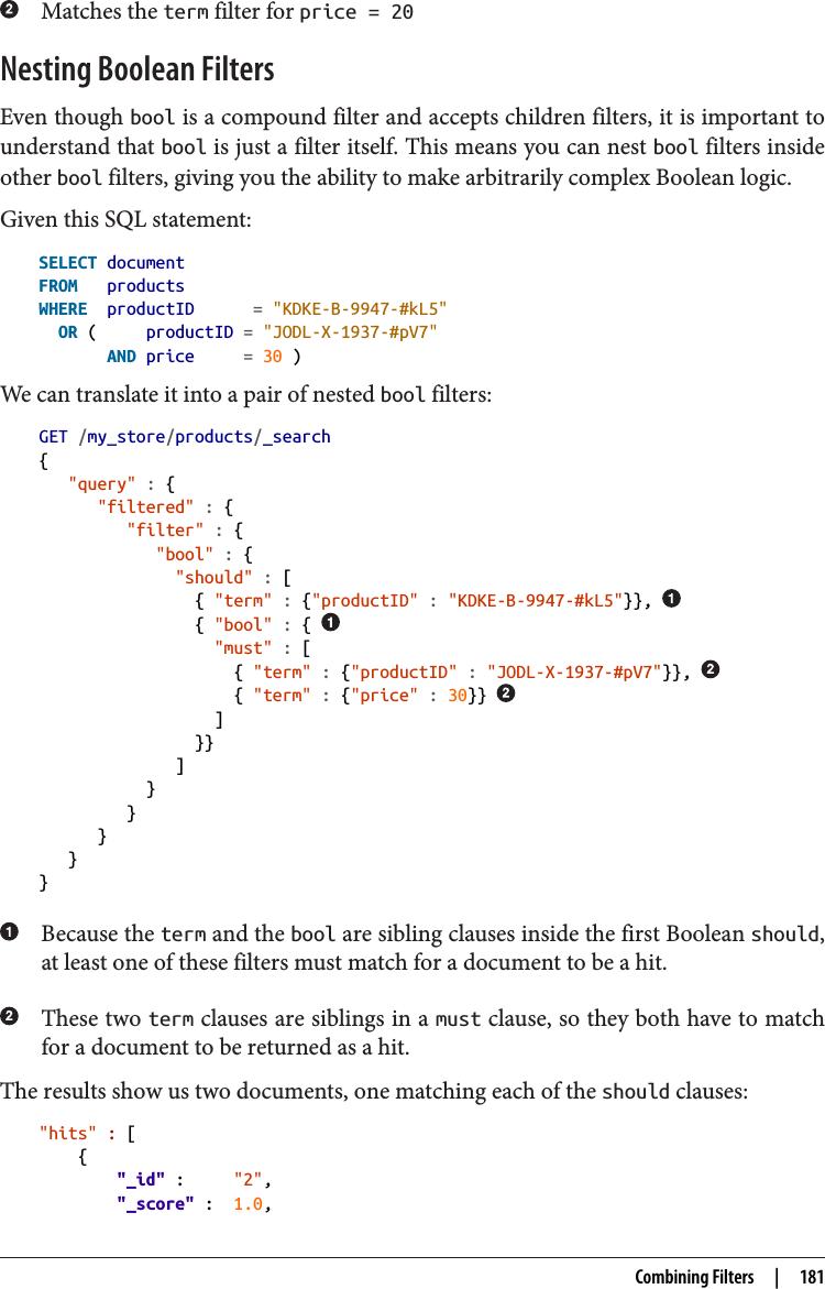 Elasticsearch Query Vs Filter