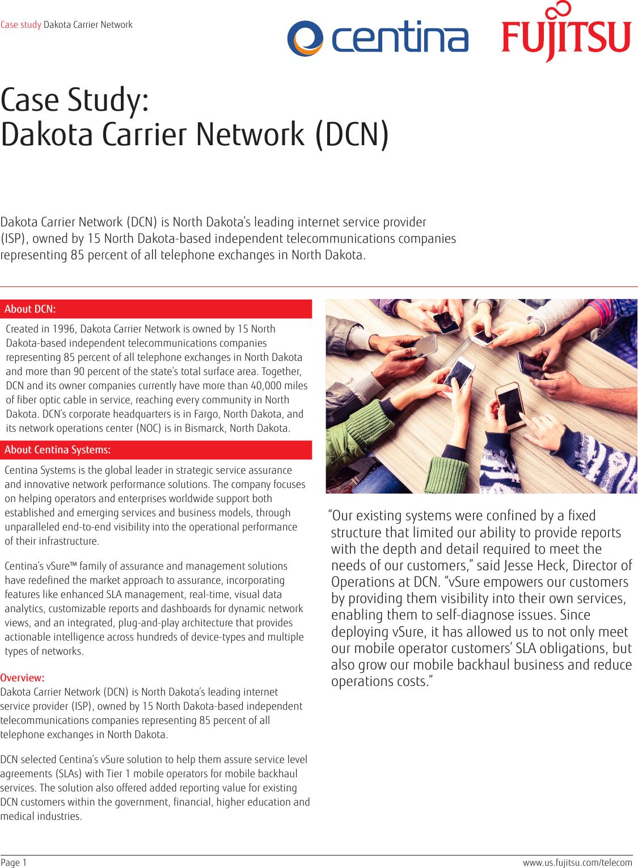 Dakota Carrier Network (DCN) FNC Case Study