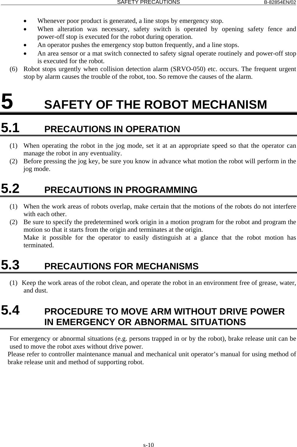 FANUC Robot Series R 30iA/R 30iA Mate/R 30iB CONTROLLER