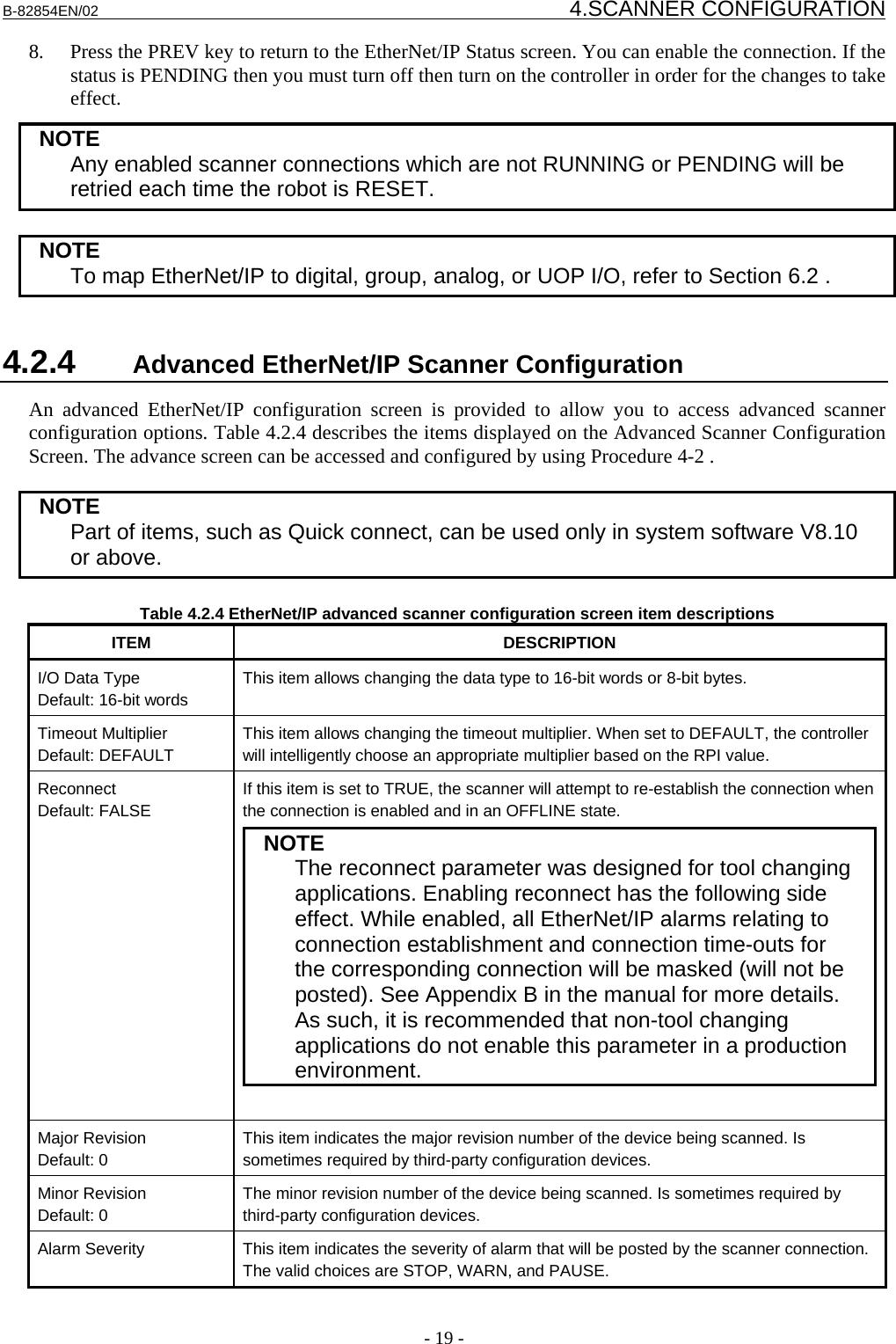 FANUC Robot Series R 30iA/R 30iA Mate/R 30iB CONTROLLER EtherNet/IP