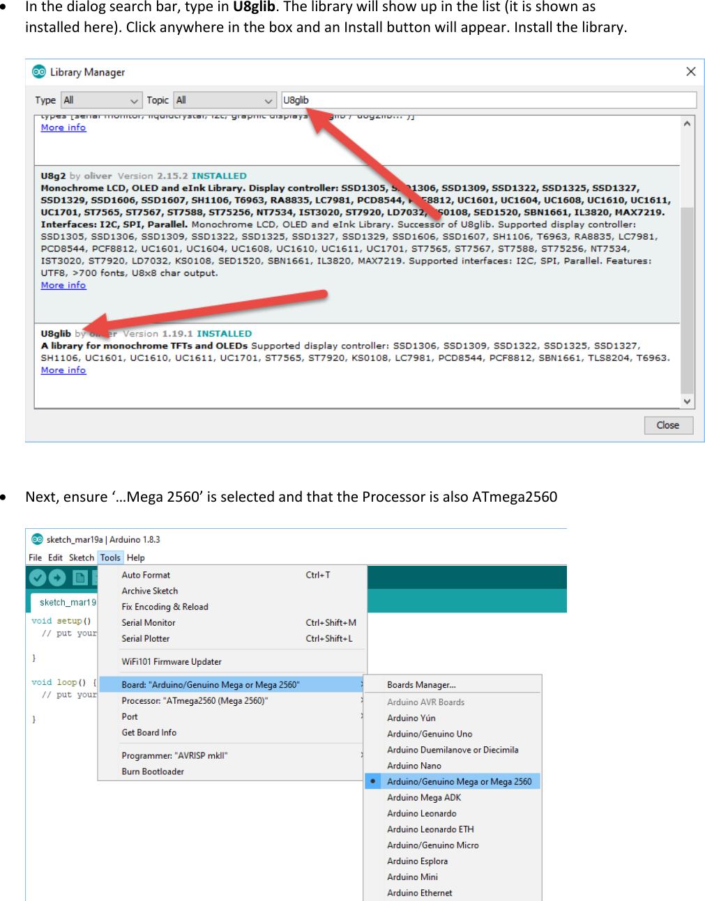 Firmware Installation Instructions