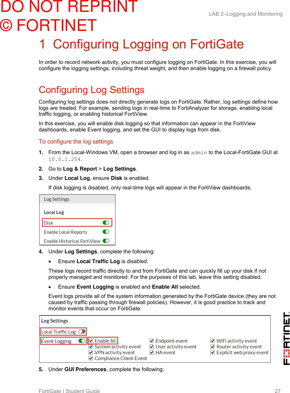 FortiGate I Student Guide Forti Gate Online V2