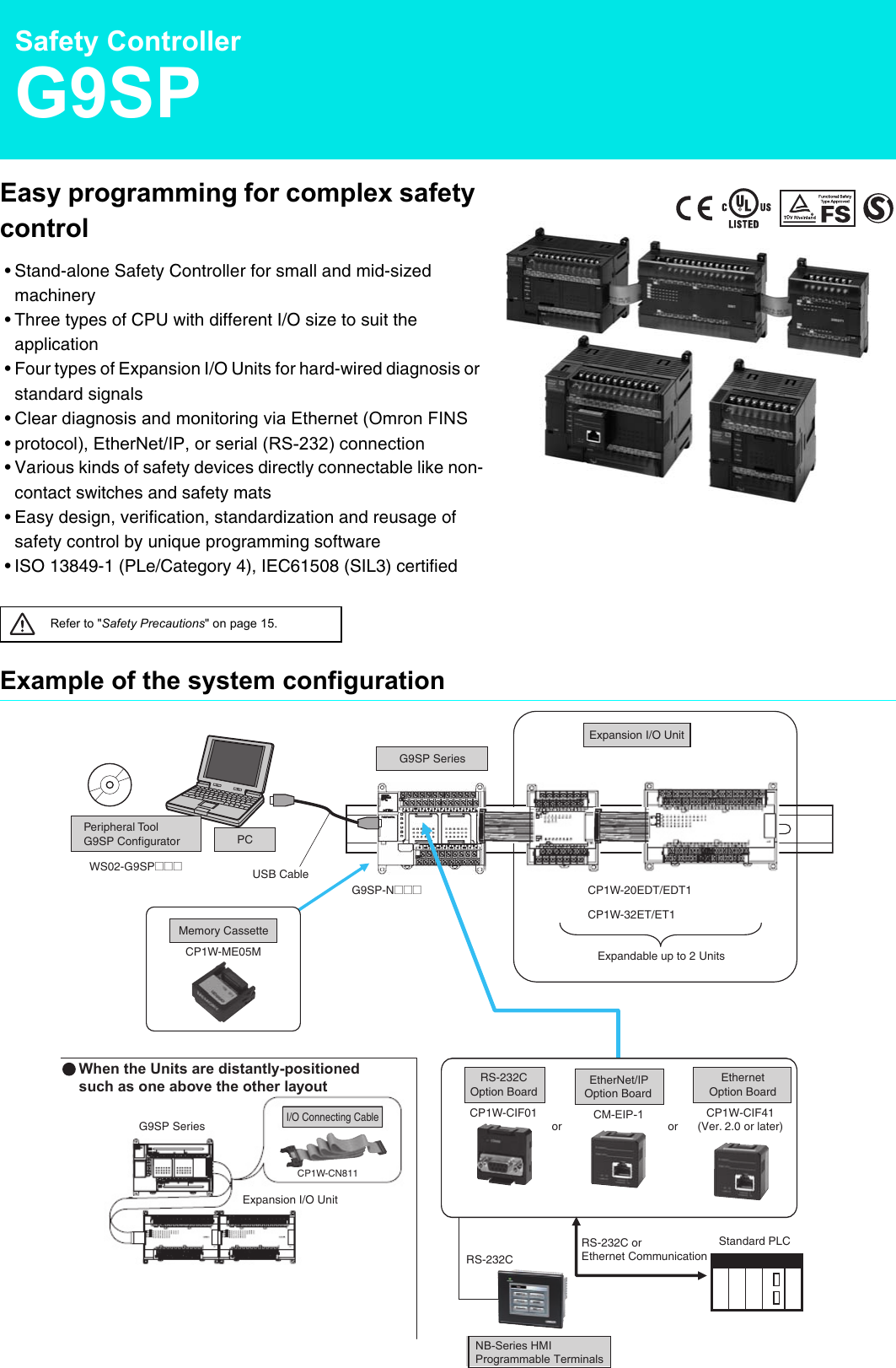 G9SP Programmable Standalone Safety Controller Datasheet En